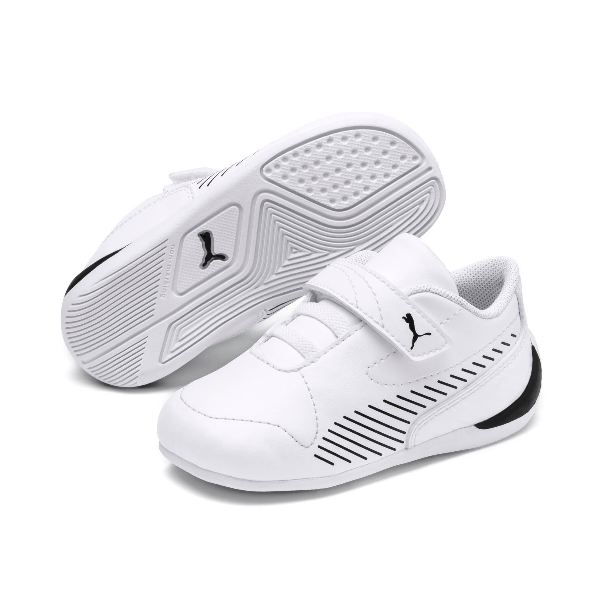 Thumbnail 2 of Ferrari Drift Cat 7S Ultra Kids Sneaker, Puma White-Puma Black, medium