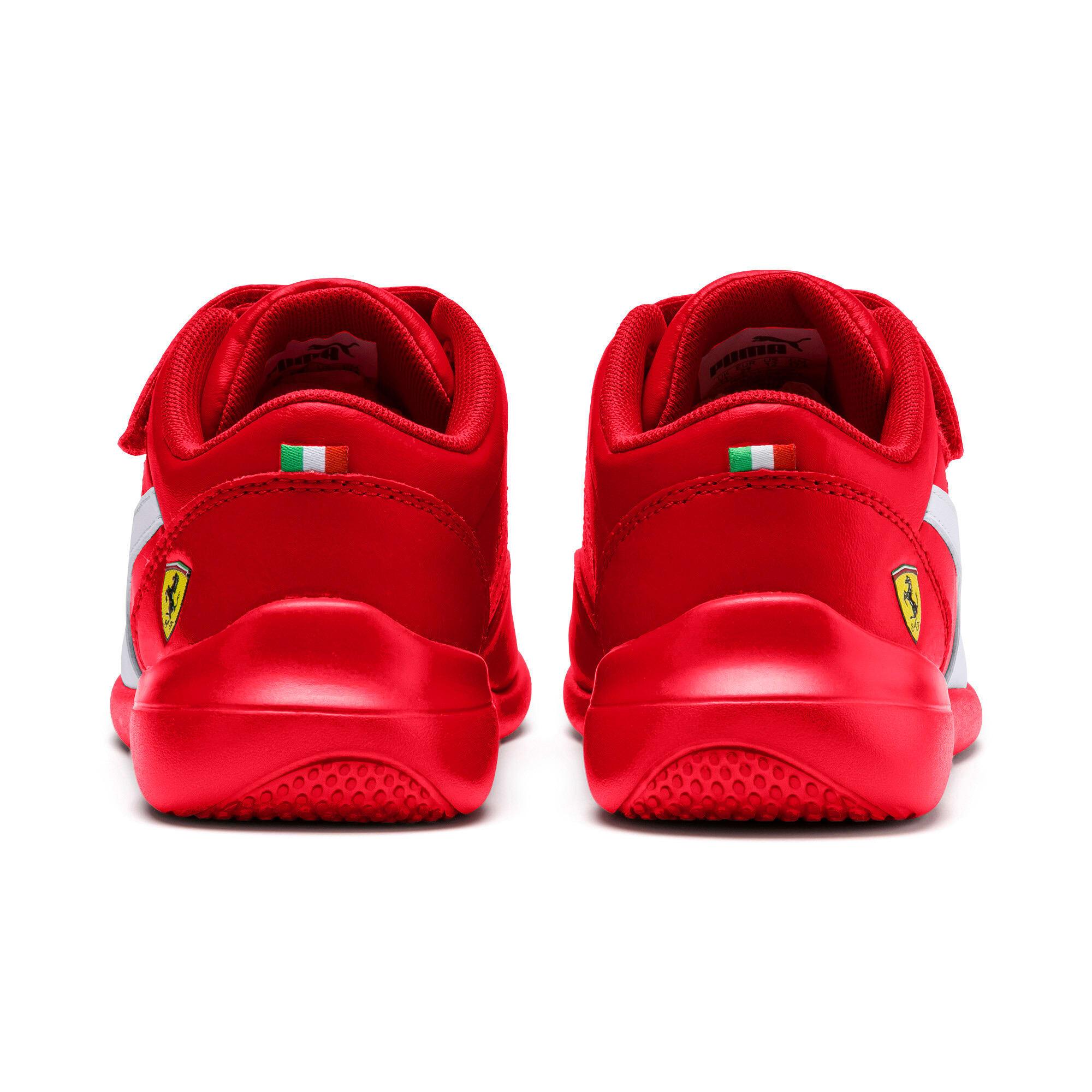 Thumbnail 4 of Ferrari Kart Cat III Kids Sneaker, Rosso Corsa-Wht-Rosso Corsa, medium