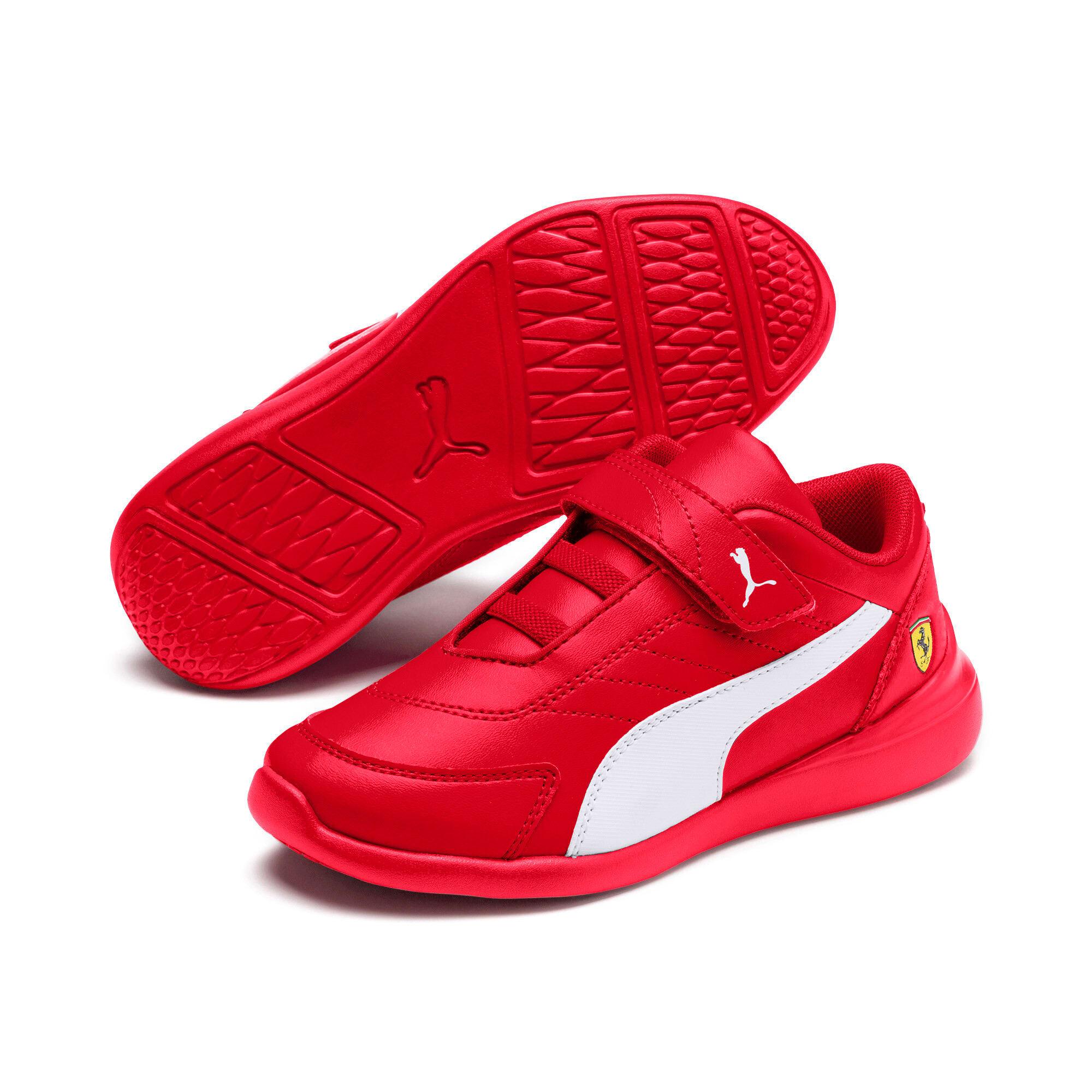 Thumbnail 2 of Ferrari Kart Cat III Kids Sneaker, Rosso Corsa-Wht-Rosso Corsa, medium