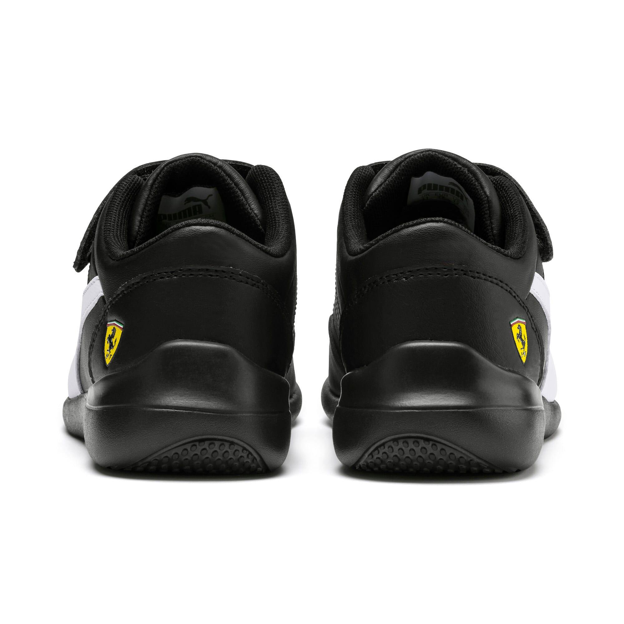 Thumbnail 3 of Scuderia Ferrari Kart Cat III Little Kids' Shoes, Black-White-Blazing Yellow, medium