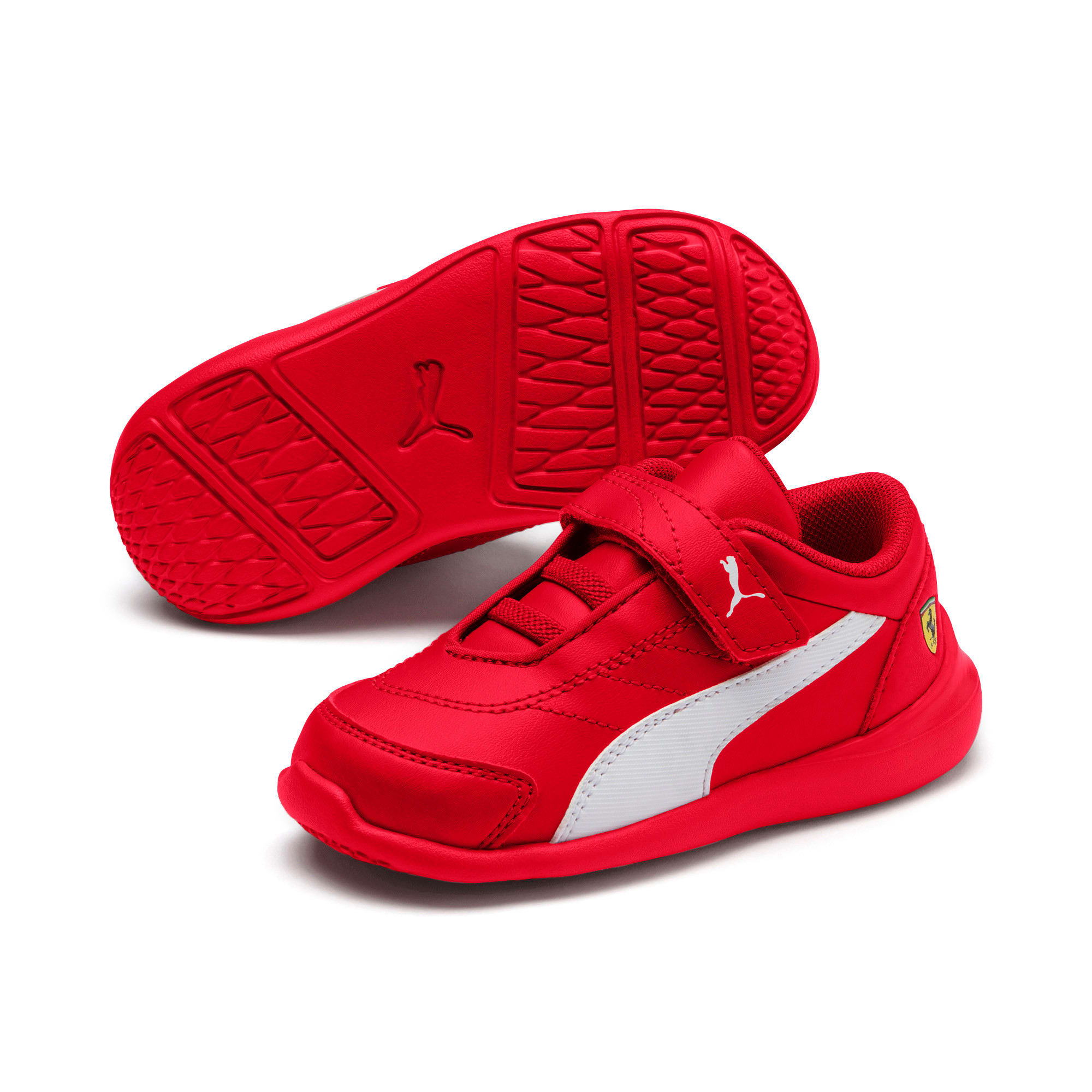 Thumbnail 2 of Scuderia Ferrari Kart Cat III Toddler Shoes, Rosso Corsa-Wht-Rosso Corsa, medium