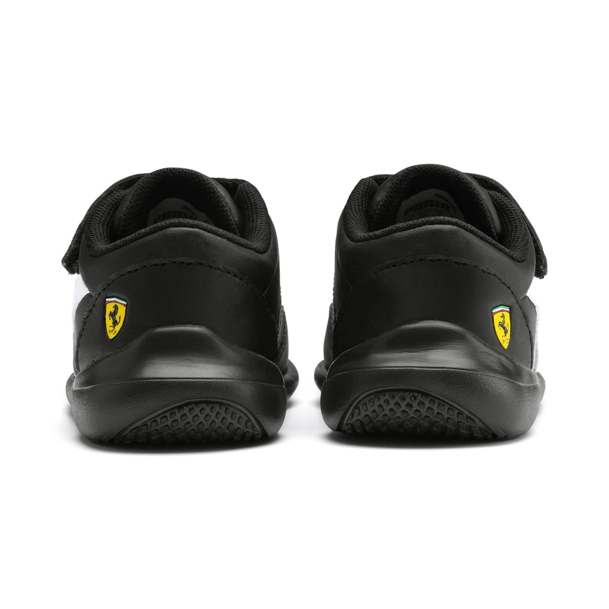 Miniatura 3 de Zapatos Scuderia Ferrari Kart Cat III para bebés, Black-White-Blazing Yellow, mediano