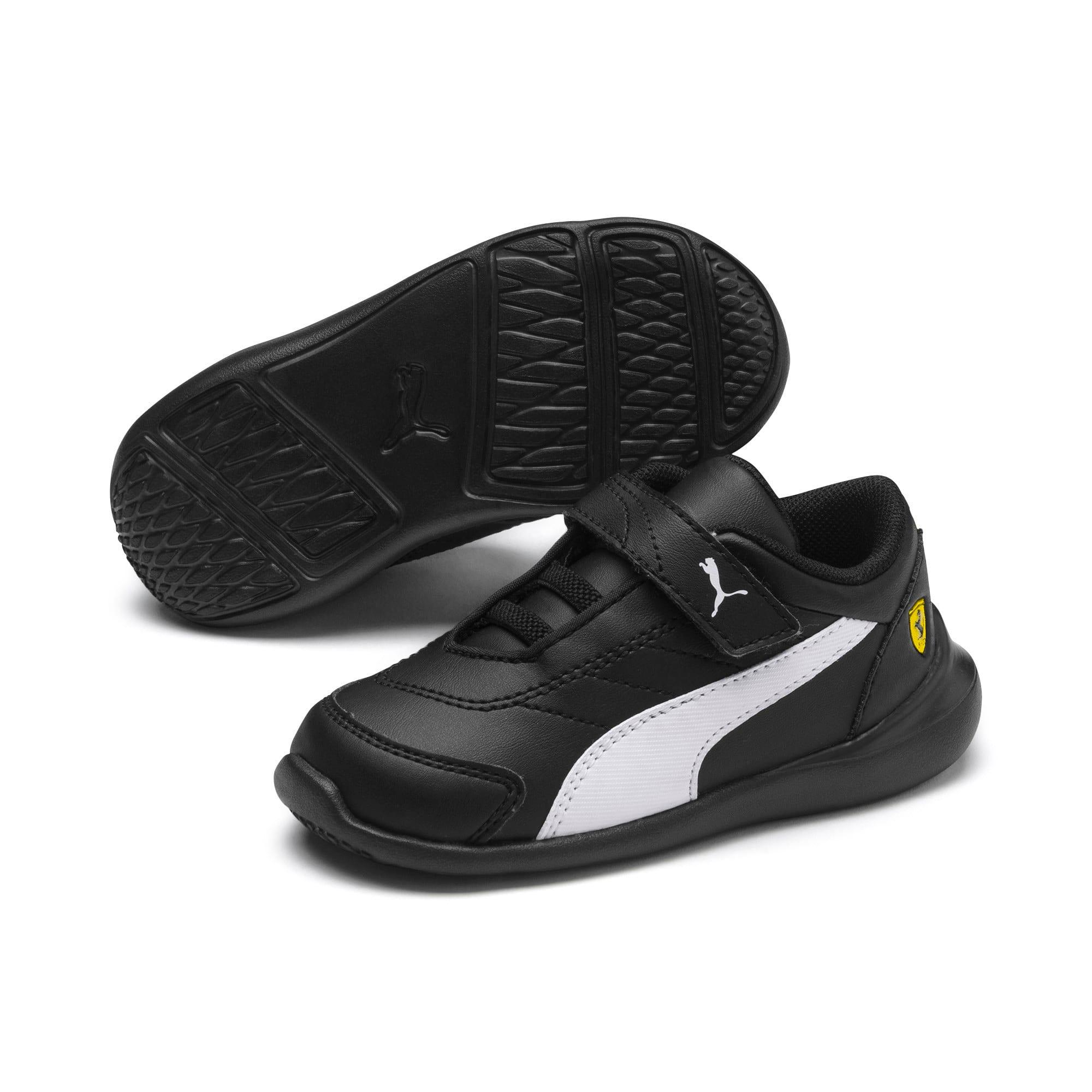 Thumbnail 2 of Scuderia Ferrari Kart Cat III Toddler Shoes, Black-White-Blazing Yellow, medium