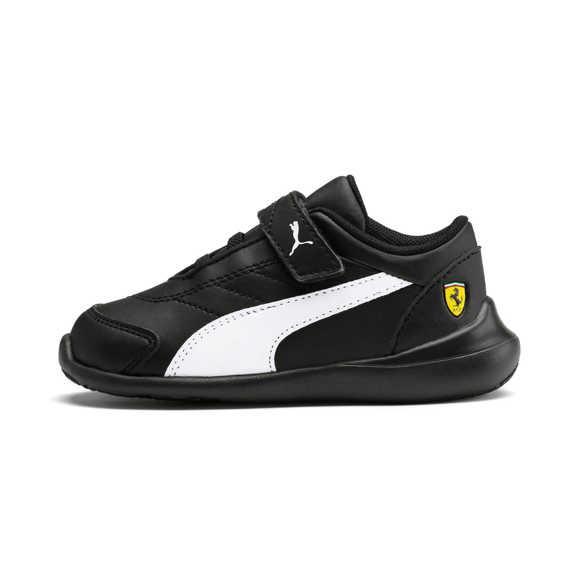 Miniatura 1 de Zapatos Scuderia Ferrari Kart Cat III para bebés, Black-White-Blazing Yellow, mediano