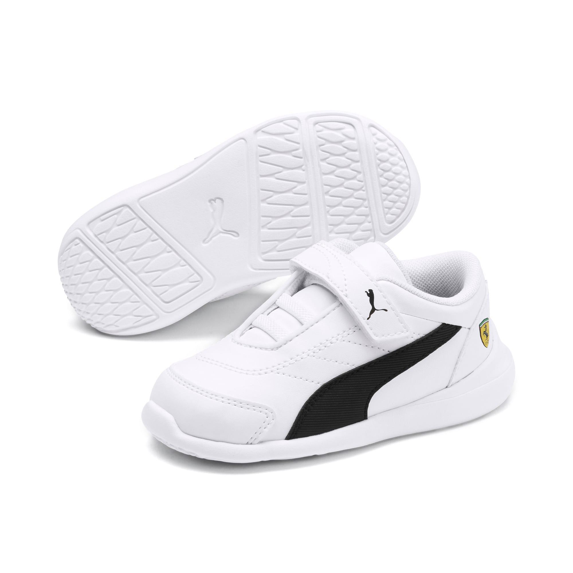 Thumbnail 2 of Scuderia Ferrari Kart Cat III Toddler Shoes, White-Black-Rosso Corsa, medium