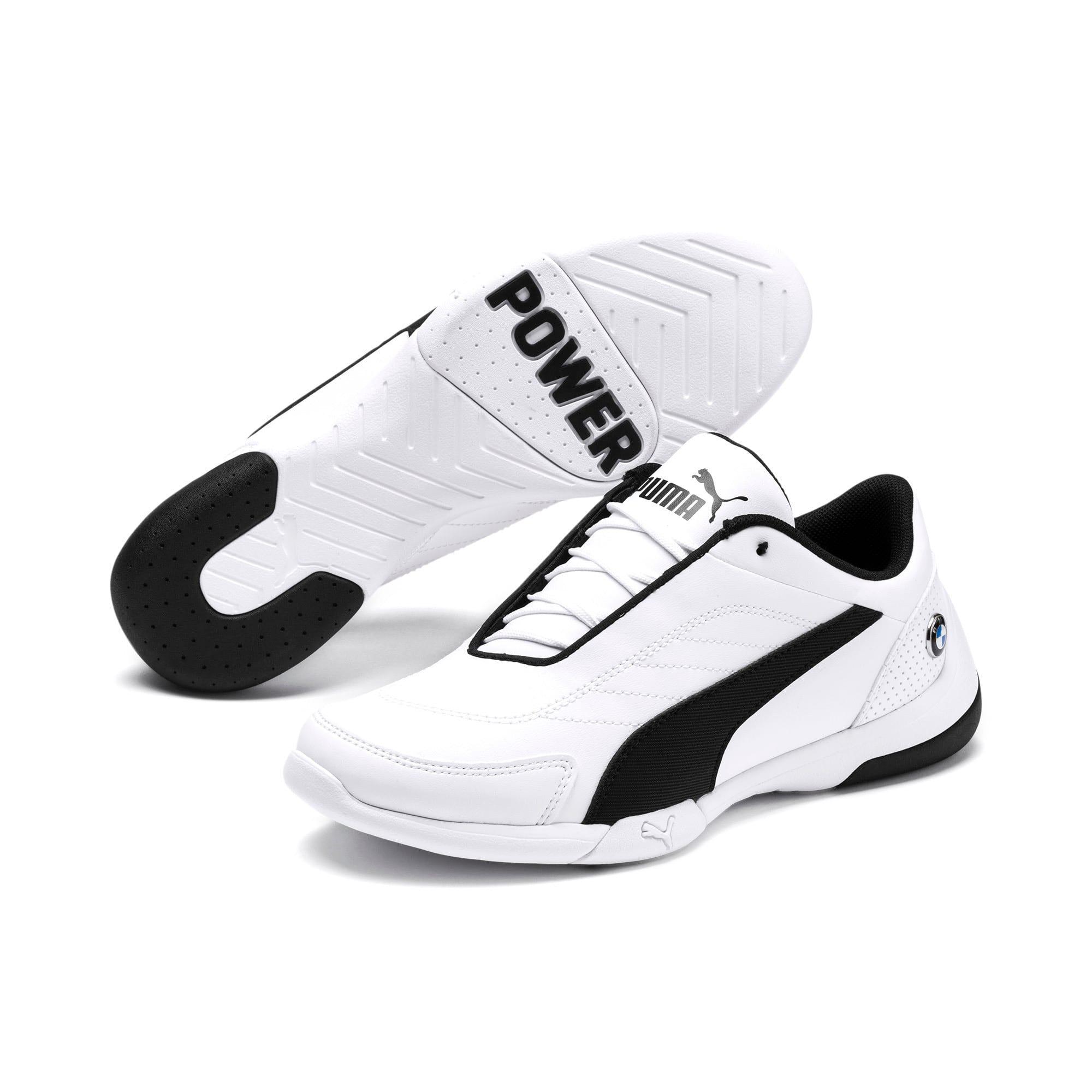 Thumbnail 2 of BMW MMS Kart Cat III Shoes JR, Puma White-Puma Black, medium