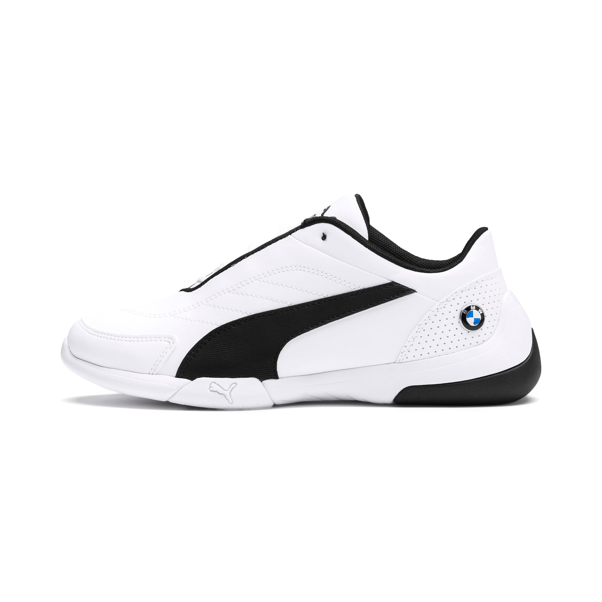 Thumbnail 1 of BMW MMS Kart Cat III Shoes JR, Puma White-Puma Black, medium