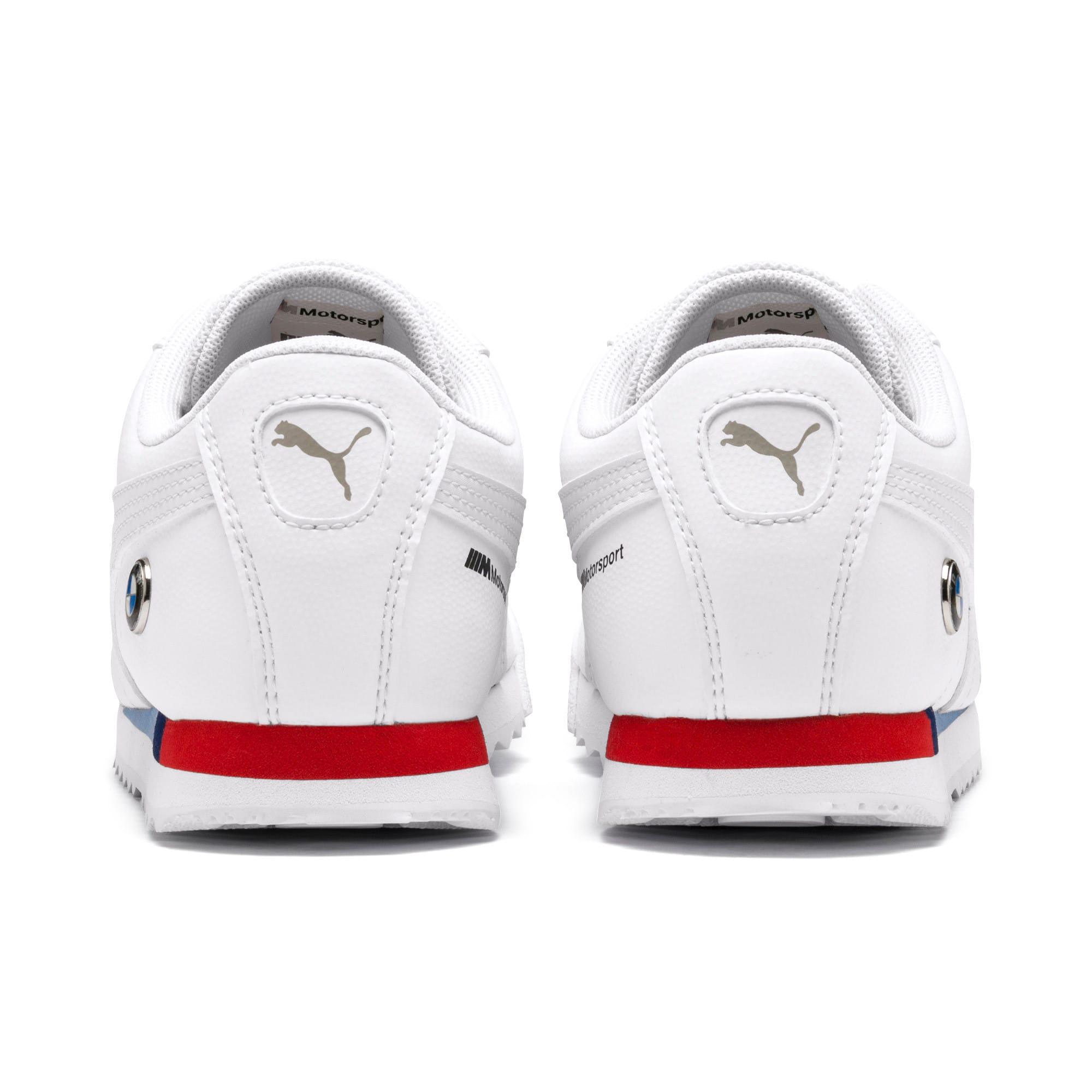 Thumbnail 4 of BMW M Motorsport Roma Sneakers JR, Puma White-Puma White, medium