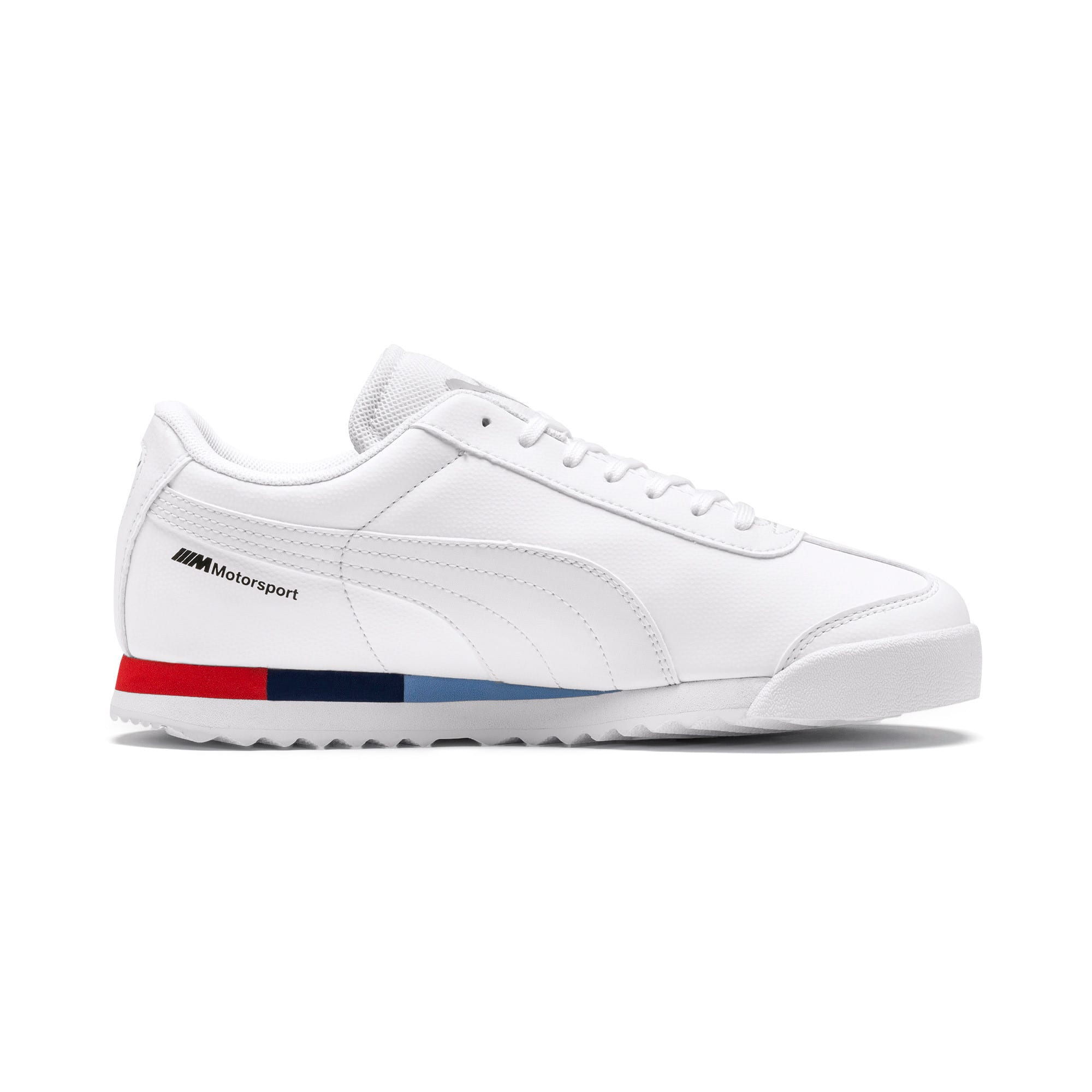 Thumbnail 5 of BMW M Motorsport Roma Sneakers JR, Puma White-Puma White, medium