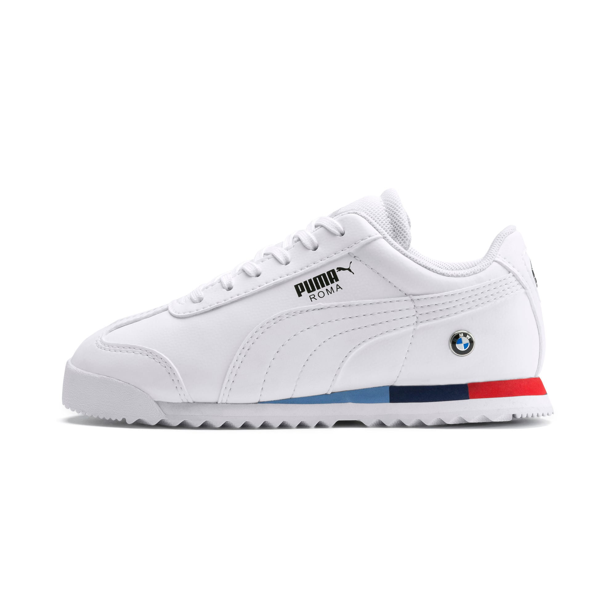 Thumbnail 1 of BMW M Motorsport Roma Little Kids' Shoes, Puma White-Puma White, medium