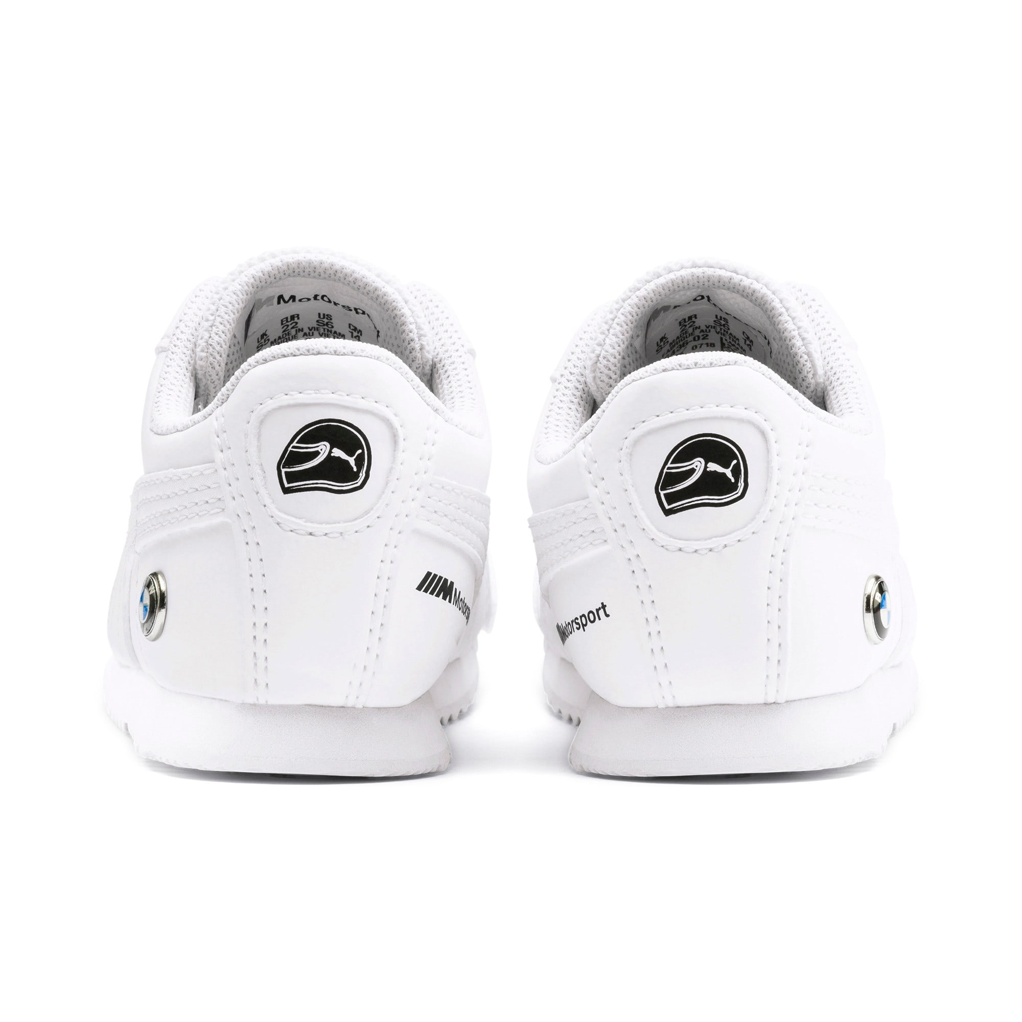 Thumbnail 3 of BMW M Motorsport Roma Toddler Shoes, Puma White-Puma White, medium