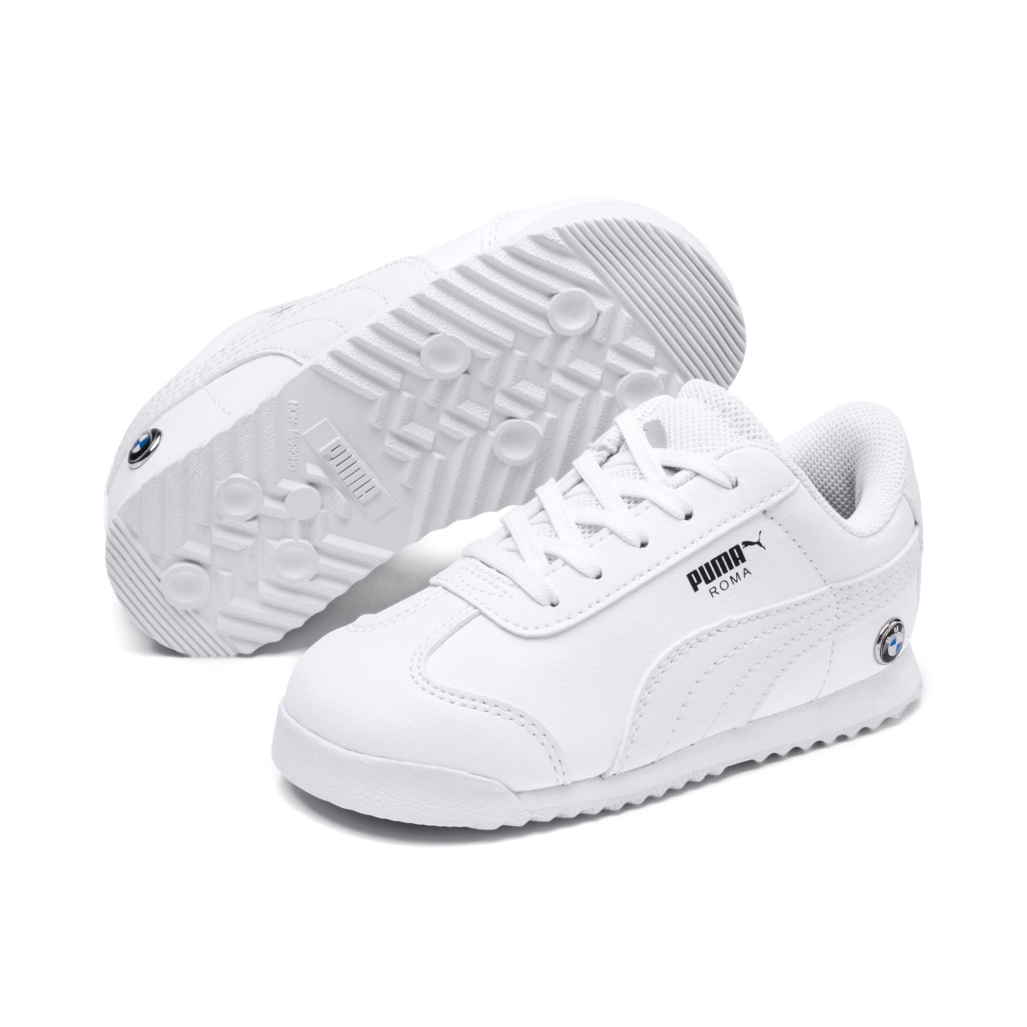 Thumbnail 2 of BMW M Motorsport Roma Toddler Shoes, Puma White-Puma White, medium