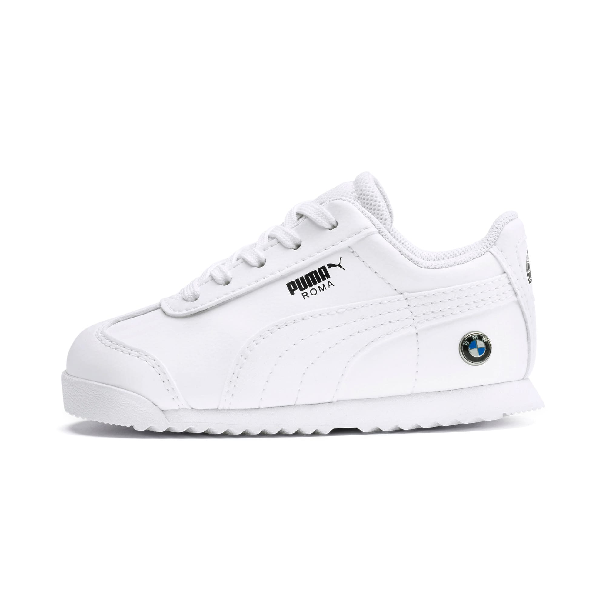 Thumbnail 1 of BMW M Motorsport Roma Toddler Shoes, Puma White-Puma White, medium