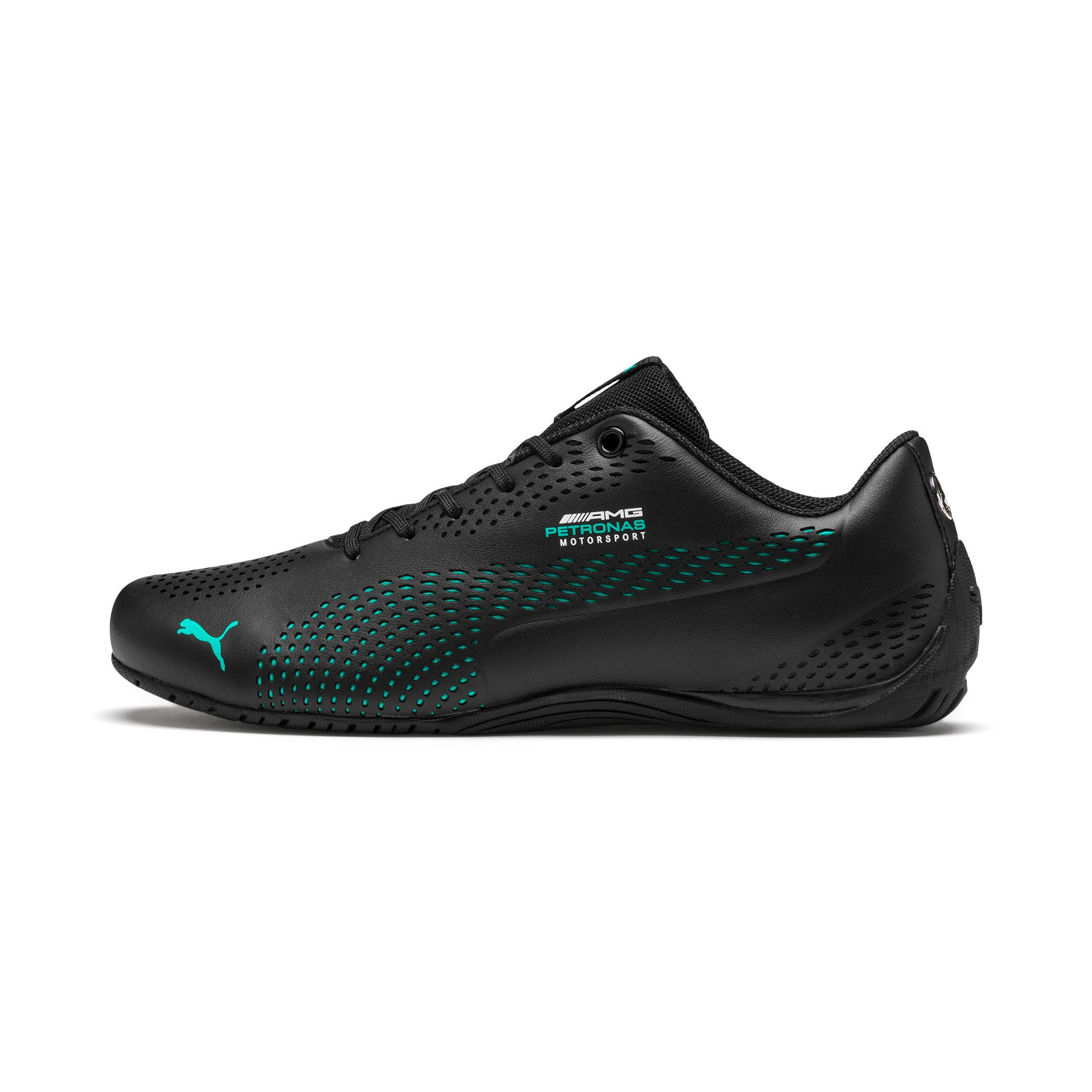 Thumbnail 1 of Mercedes AMG Petronas Drift Cat 5 Ultra II Shoes, Puma Black-Spectra Green, medium