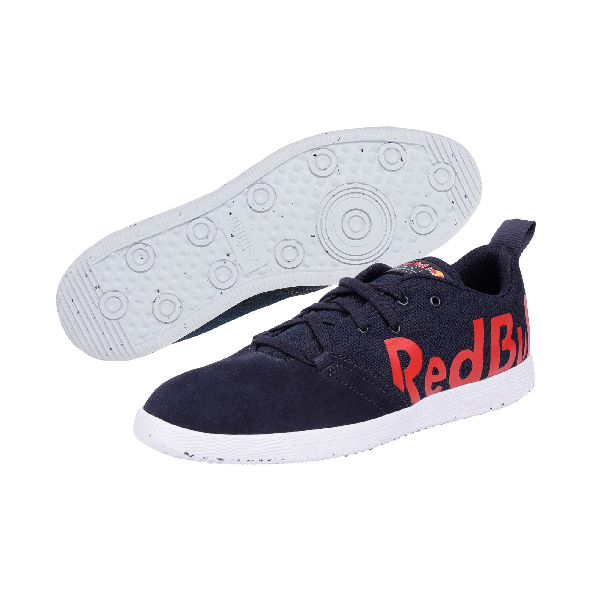 Thumbnail 2 of Red Bull Racing Cups Lo Trainers, NIGHT SKY-White-Chinese Red, medium-IND