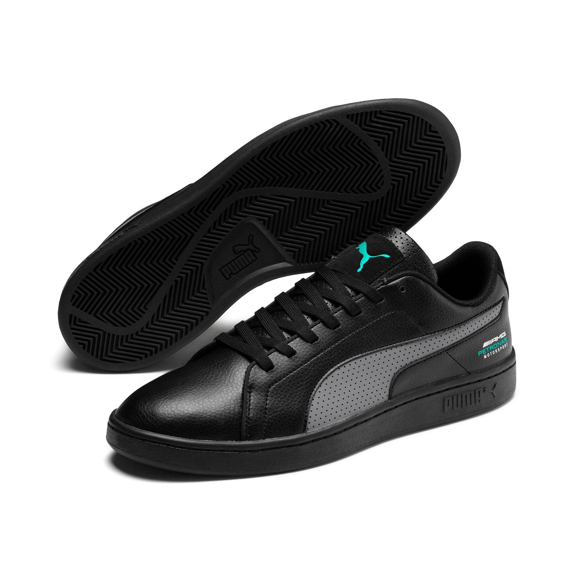 Thumbnail 3 of Mercedes AMG Petronas Smash v2 Sneakers, Black-Smkd Pearl-Spectra Grn, medium