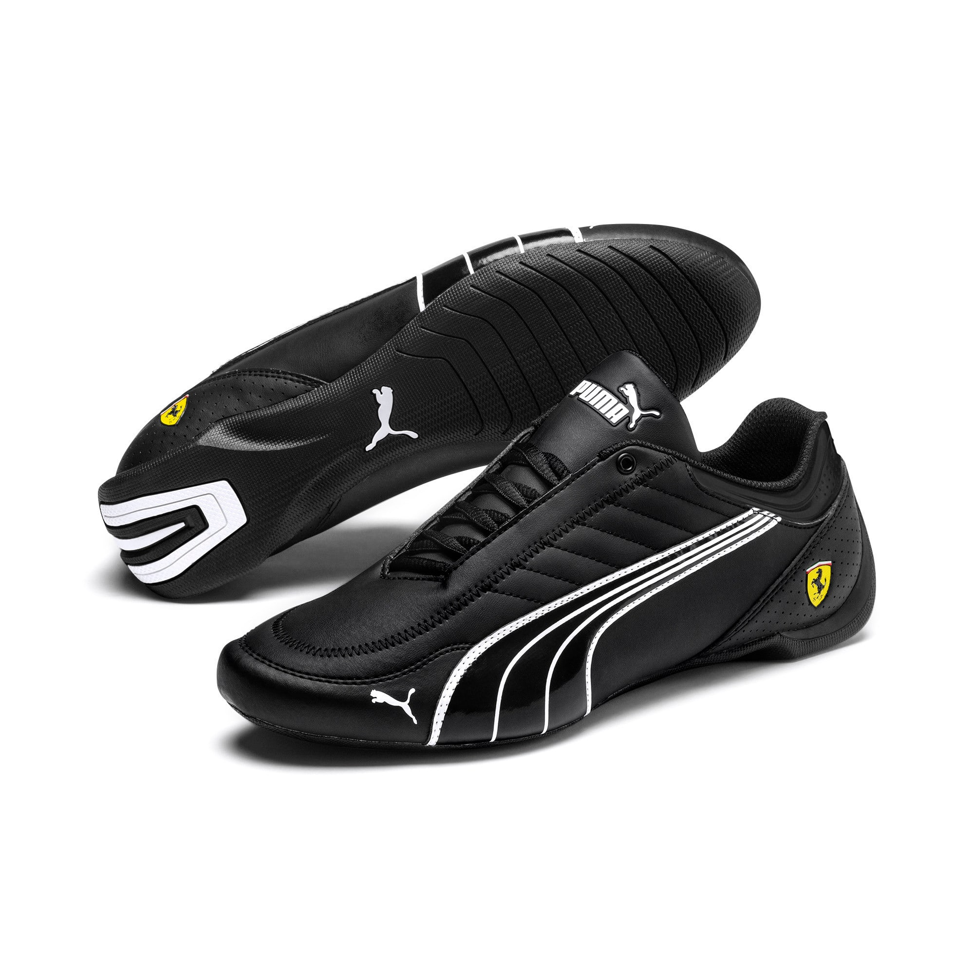 Thumbnail 3 of Basket Ferrari Future Kart Cat, Black-Puma White-Rosso Corsa, medium
