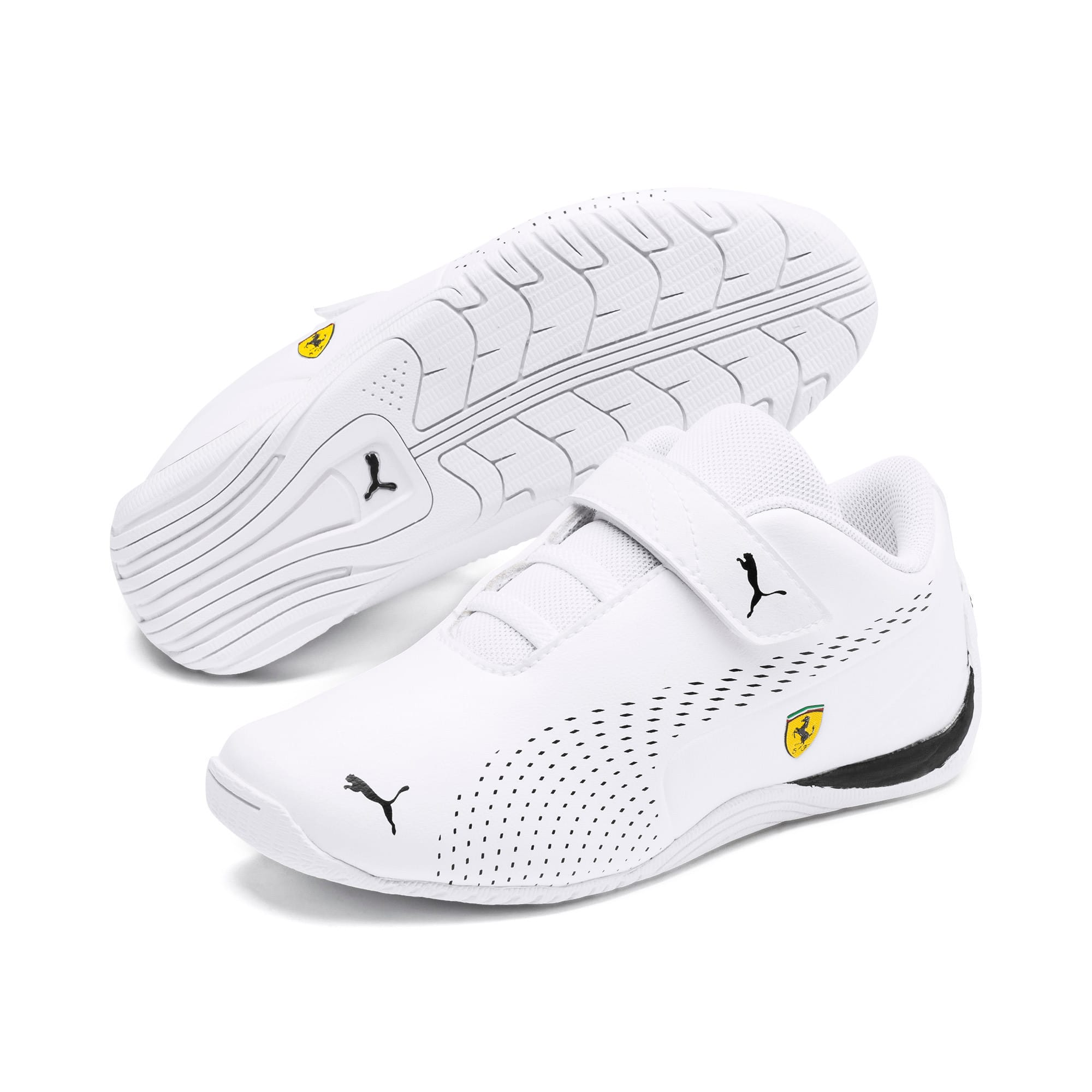 Thumbnail 2 of Ferrari Drift Cat 5 Ultra II V Kids Sneaker, Puma White-Puma Black, medium