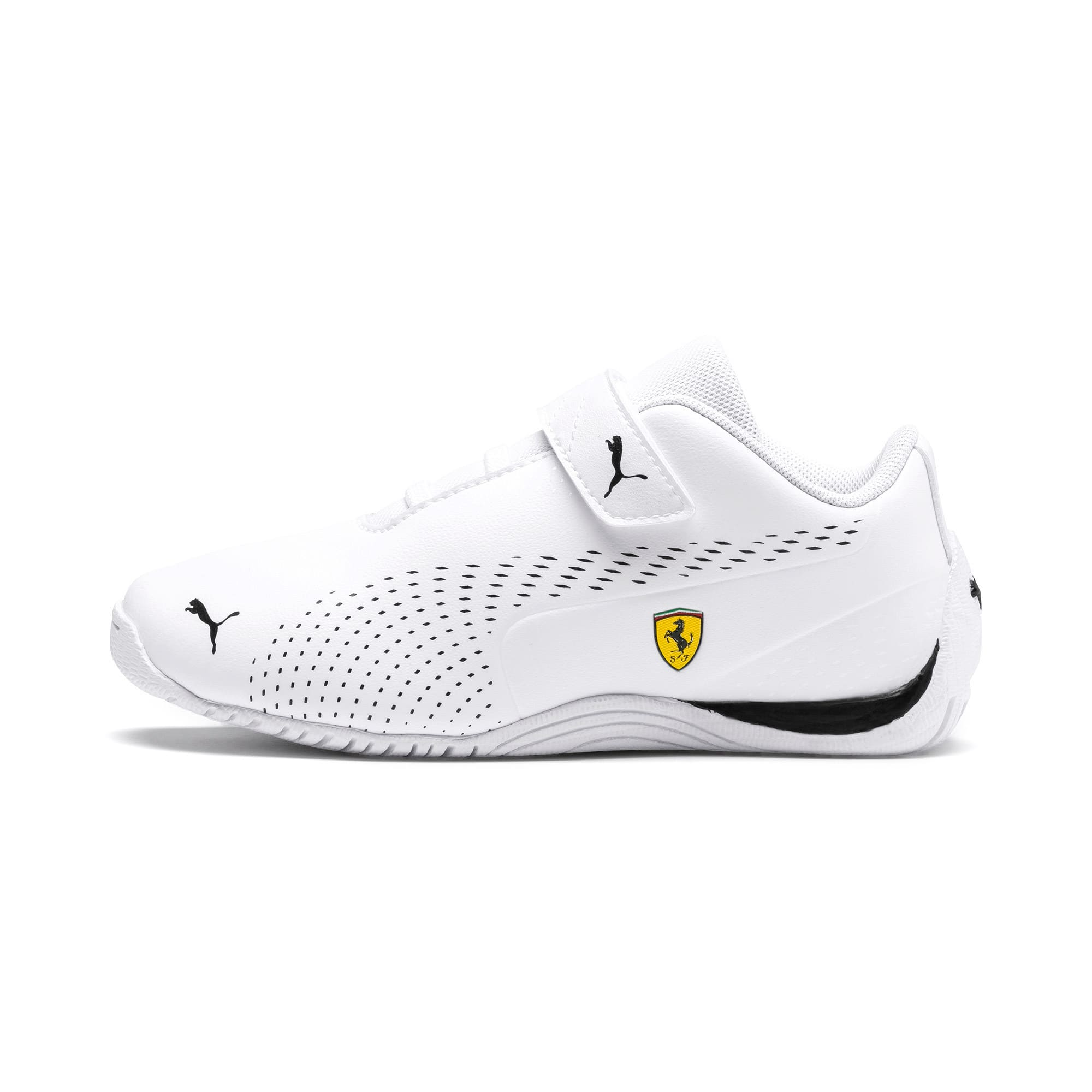 Thumbnail 1 of Ferrari Drift Cat 5 Ultra II V Kids Sneaker, Puma White-Puma Black, medium