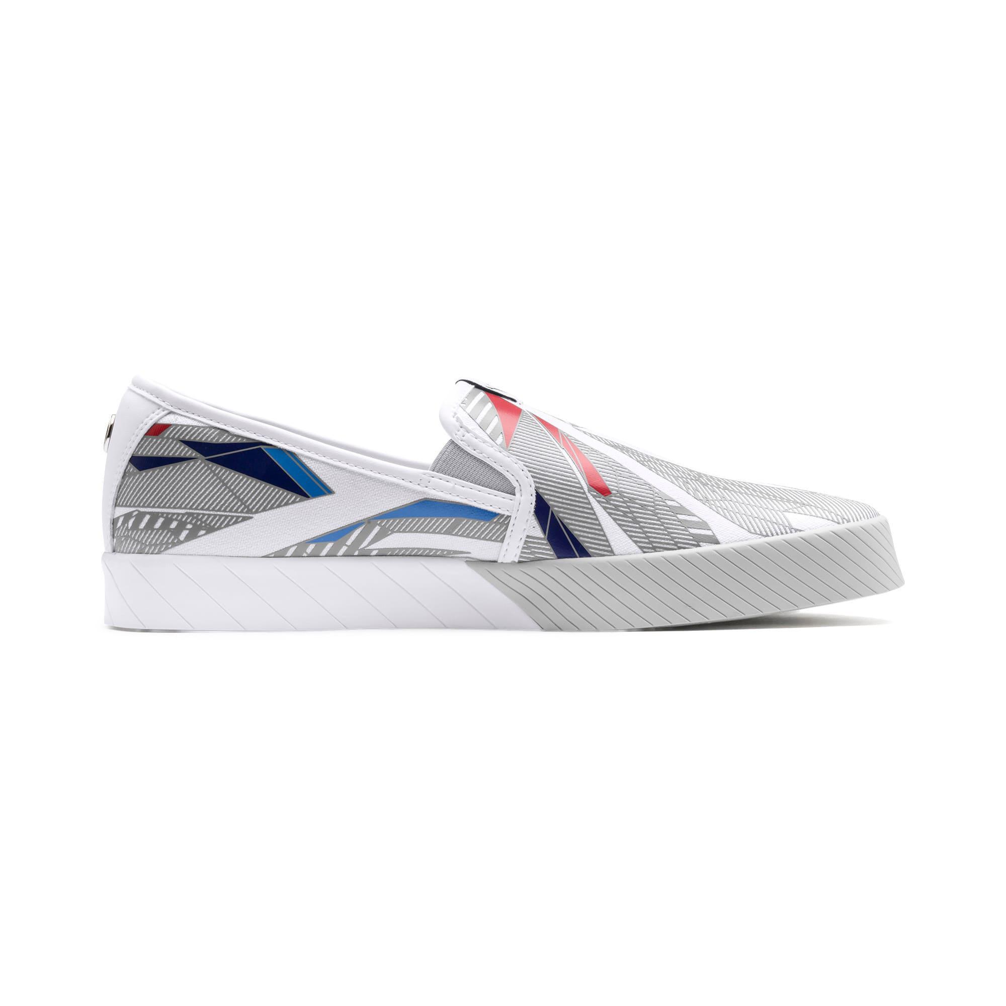 Thumbnail 6 of BMW M Motorsport Slip-On Gradient Track Shoes, Puma White-Gray Violet, medium