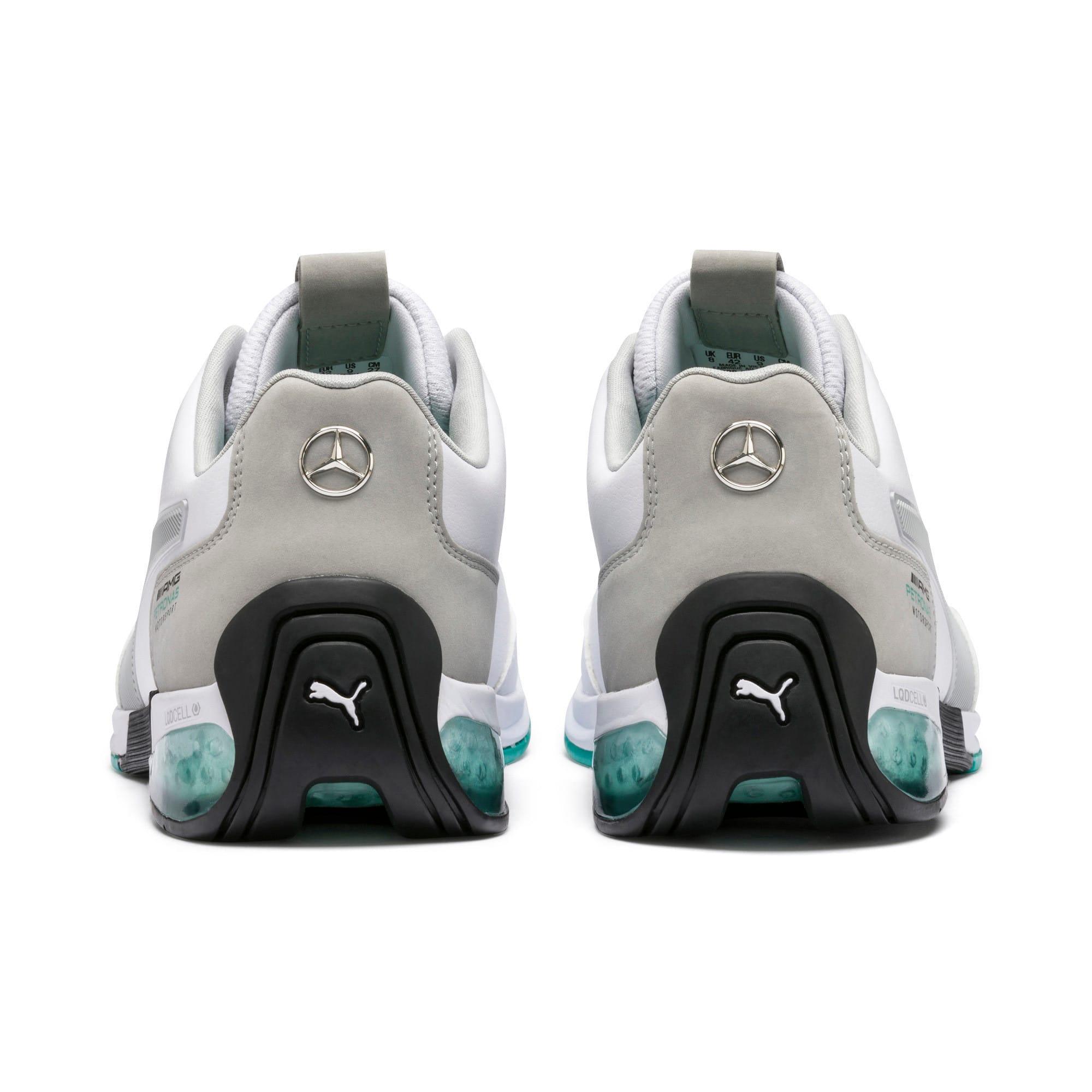 Thumbnail 4 of Mercedes AMG Petronas Kart Cat X Men's Training Shoes, Puma White-Mercedes Silver, medium