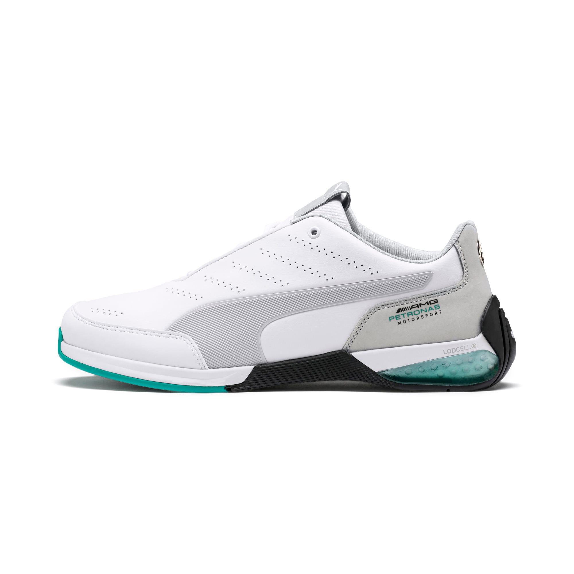 Thumbnail 1 of Mercedes AMG Petronas Kart Cat X Men's Training Shoes, Puma White-Mercedes Silver, medium