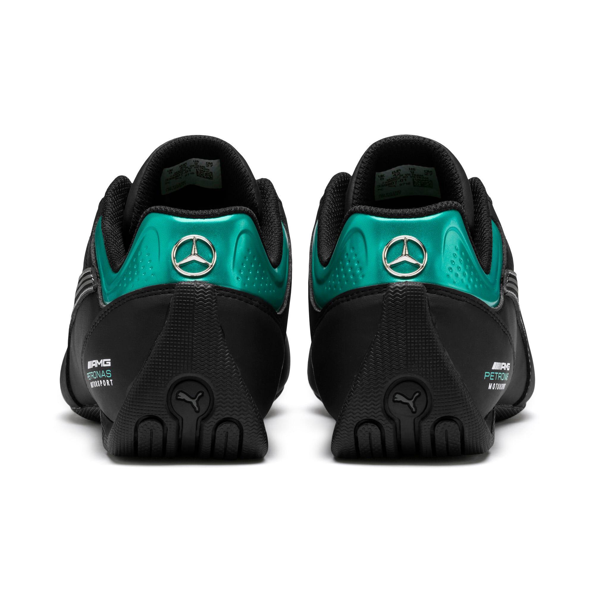 Thumbnail 4 of Mercedes AMG Petronas Future Kart Cat Shoes, Puma Black-Smoked Pearl, medium