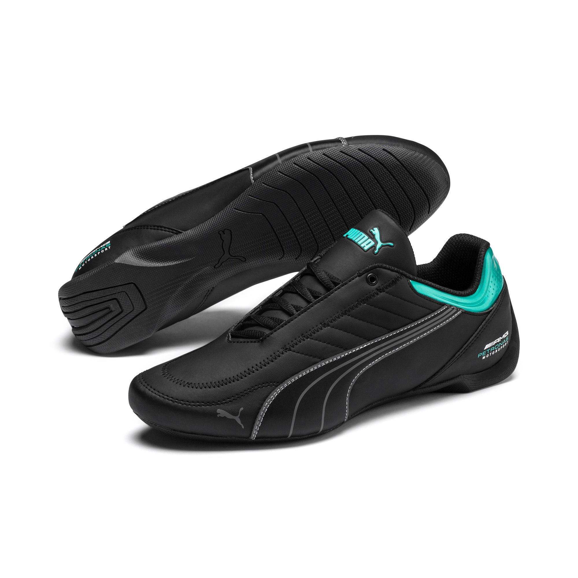 Thumbnail 3 of Mercedes AMG Petronas Motorsport Future Kart Cat Trainers, Puma Black-Smoked Pearl, medium