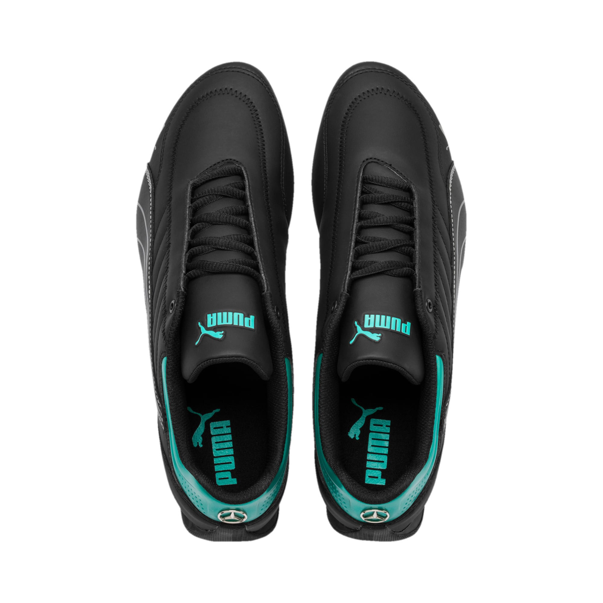 Thumbnail 7 of Mercedes AMG Petronas Motorsport Future Kart Cat Trainers, Puma Black-Smoked Pearl, medium