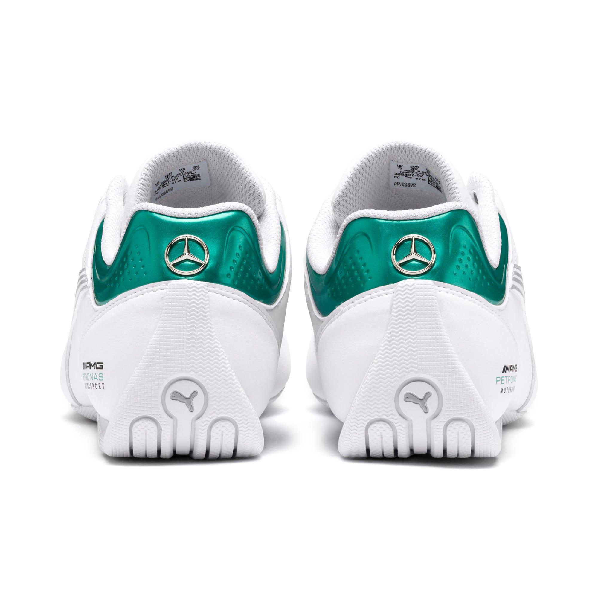 Thumbnail 4 of Mercedes AMG Petronas Future Kart Cat Shoes, Puma White-Mercedes Silver, medium