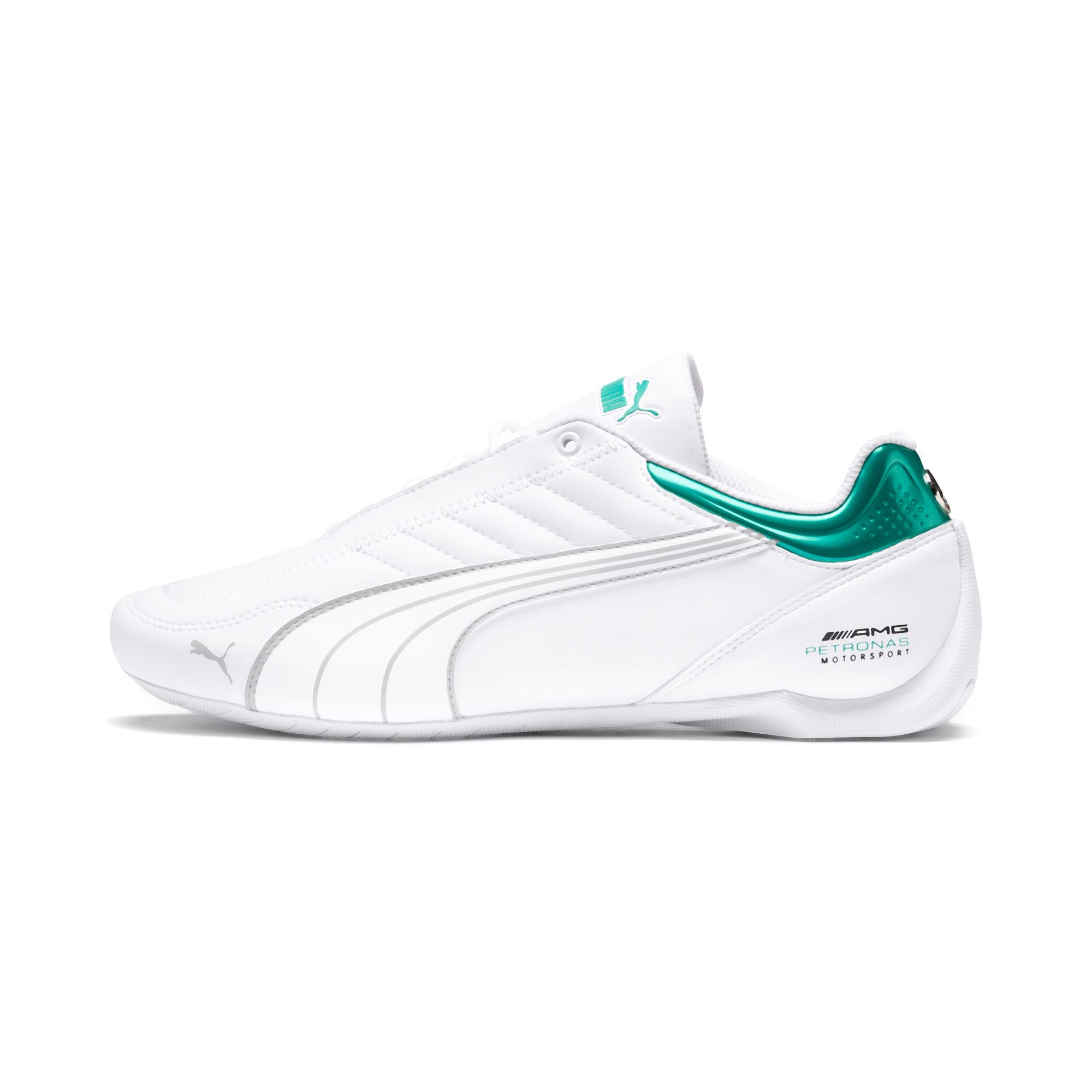 Thumbnail 1 of Mercedes AMG Petronas Motorsport Future Kart Cat Trainers, Puma White-Mercedes Silver, medium
