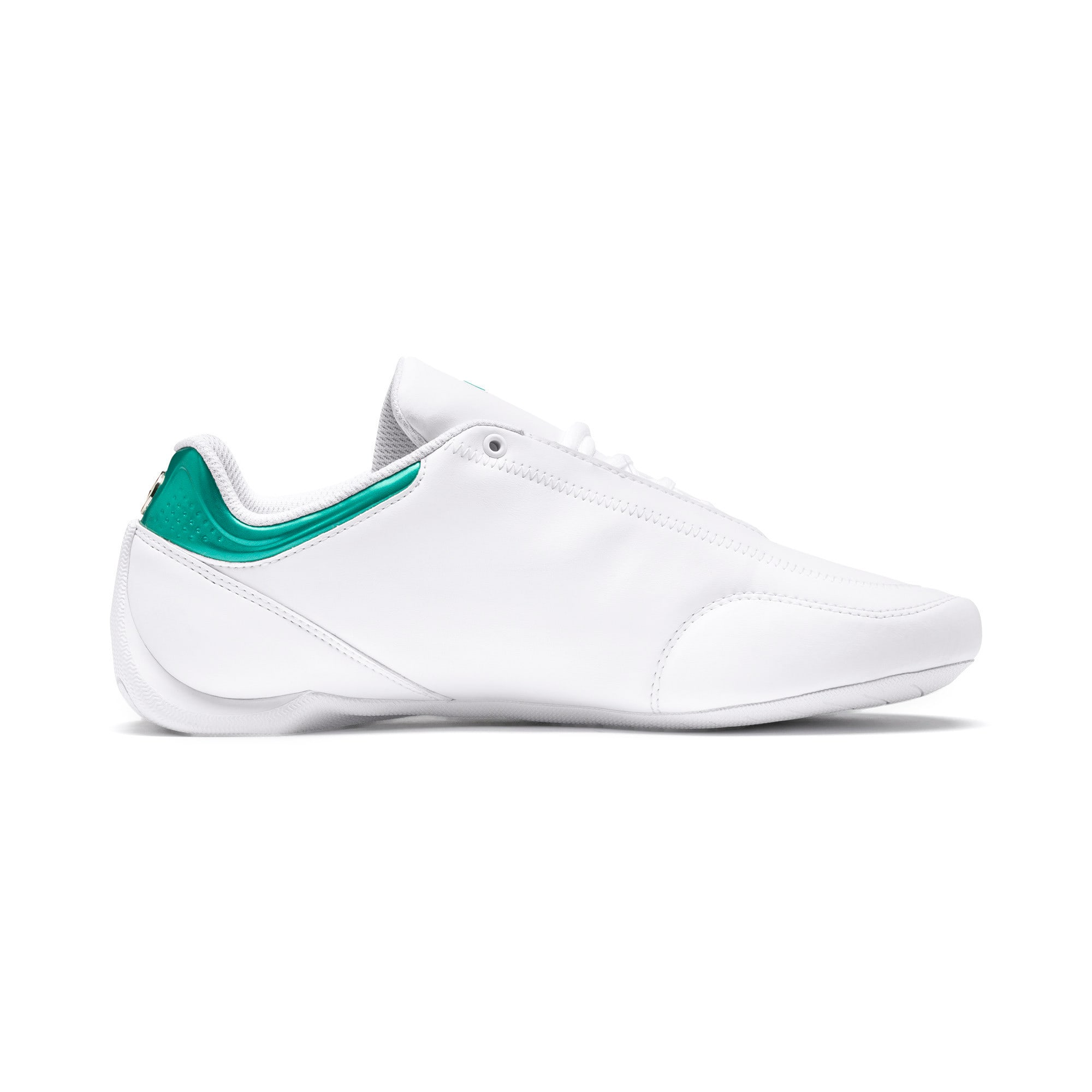 Thumbnail 6 of Mercedes AMG Petronas Motorsport Future Kart Cat Trainers, Puma White-Mercedes Silver, medium