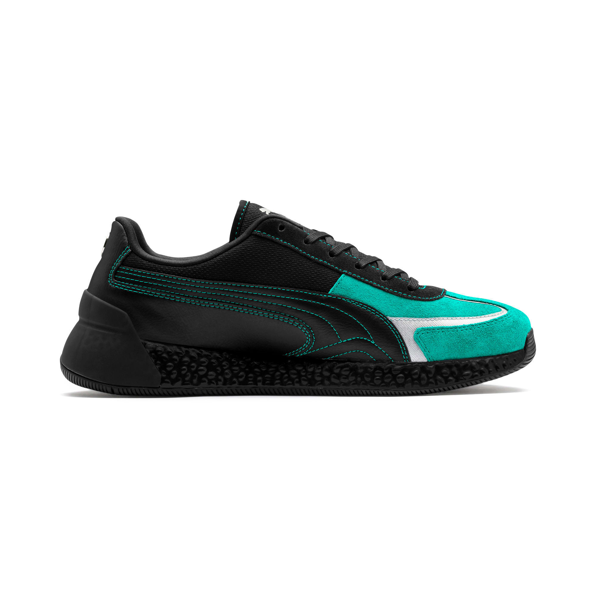 Thumbnail 6 of Mercedes AMG Petronas Speed HYBRID Running Shoes, Puma Black-Spectra Green, medium