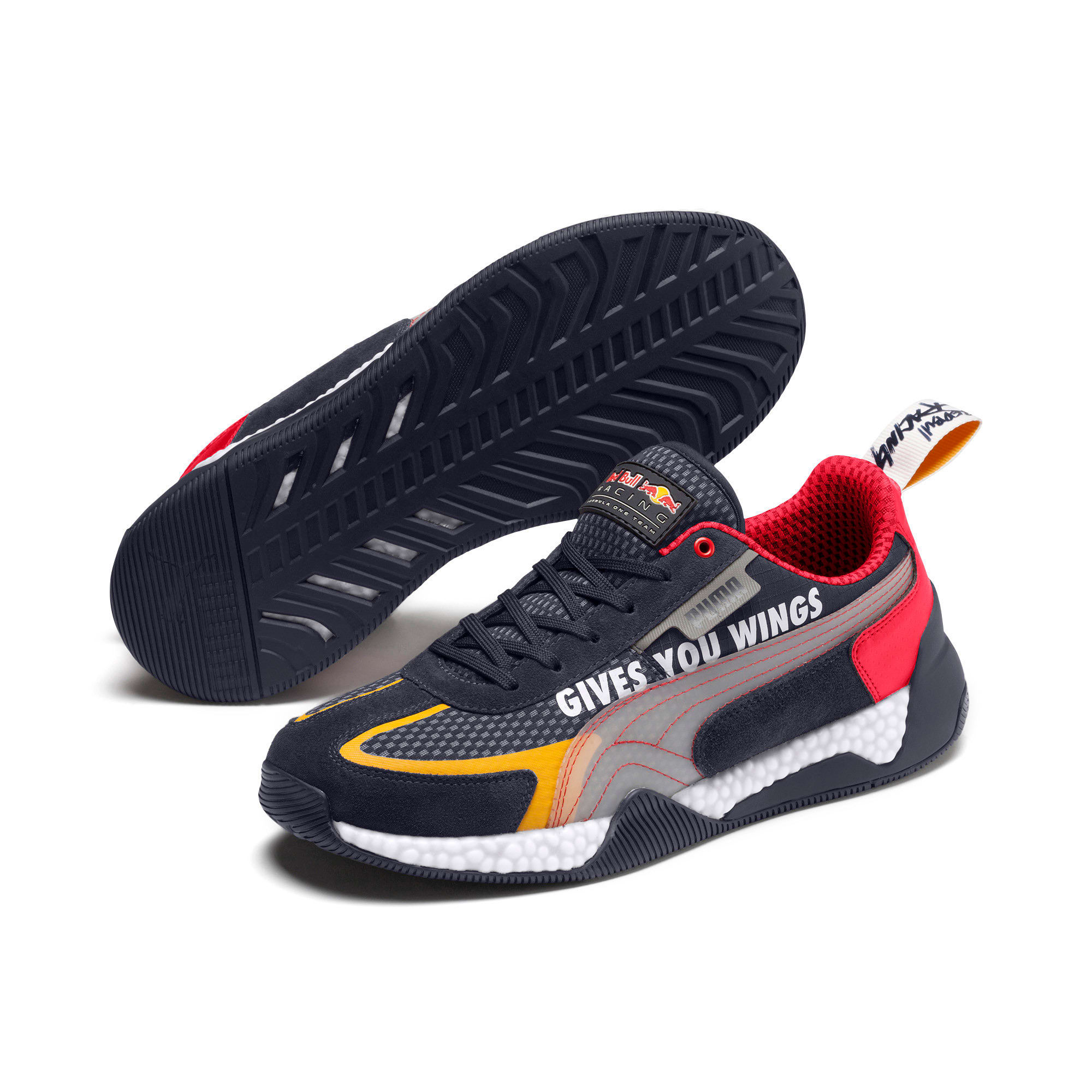 Thumbnail 3 of Red Bull Racing Speed HYBRID Running Shoes, NIGHT SKY-White-Chinese Red, medium