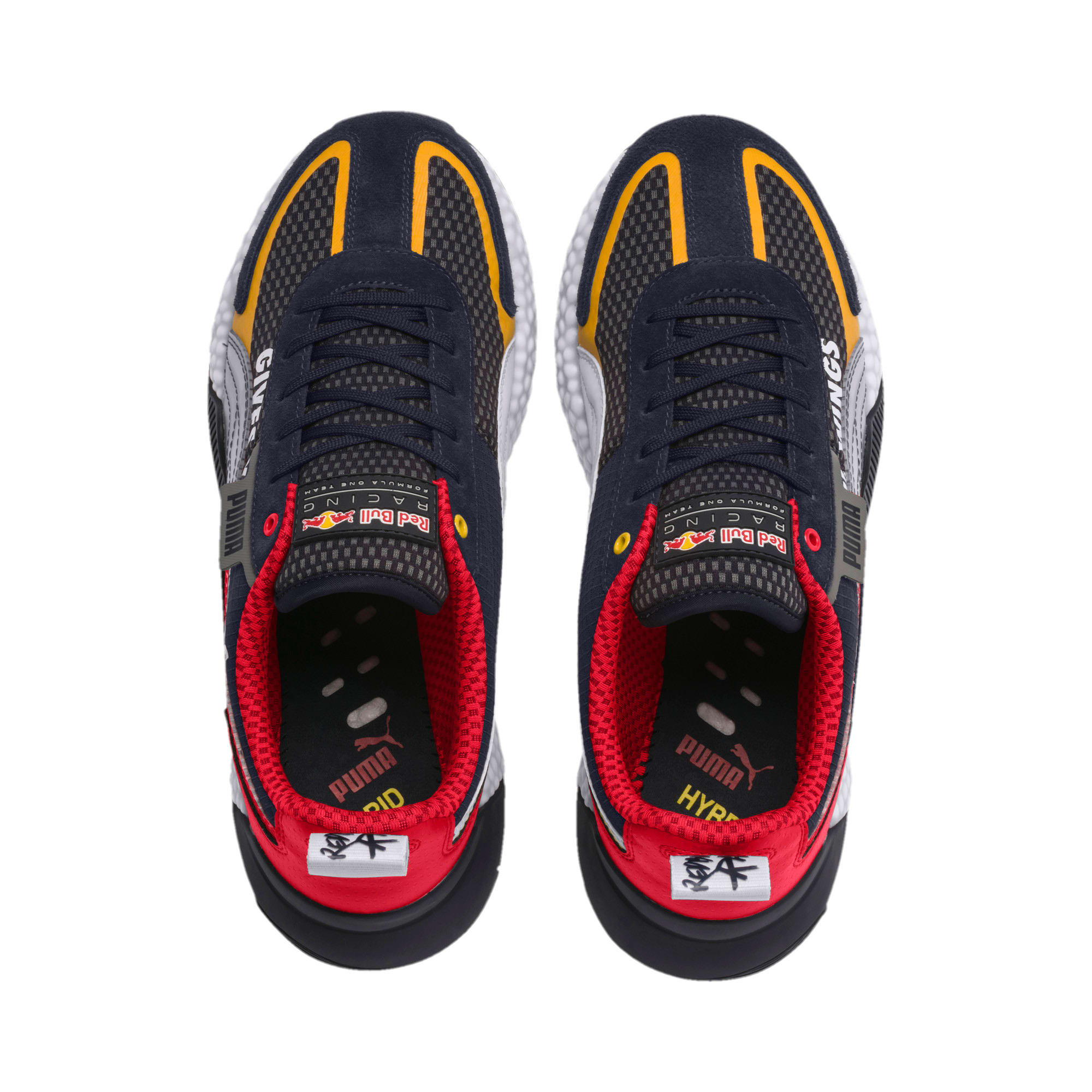 Thumbnail 8 of Red Bull Racing Speed HYBRID Men's Trainers, NIGHT SKY-White-Chinese Red, medium-IND
