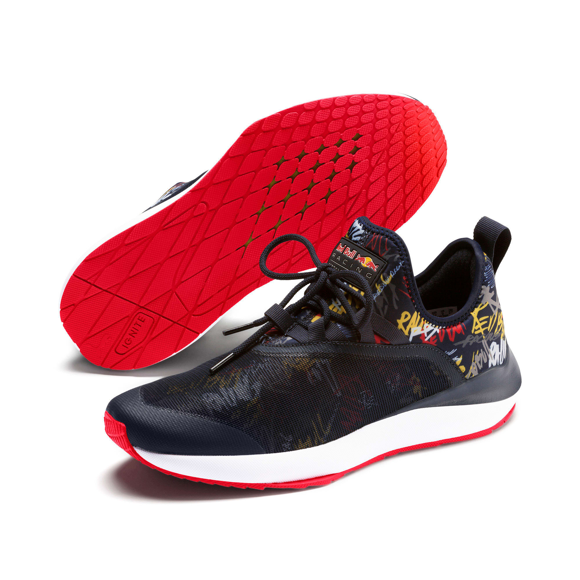 Thumbnail 2 of Red Bull Racing Evo Cat II Graphic Men's Training Shoes, NIGHT SKY-White-Chinese Red, medium