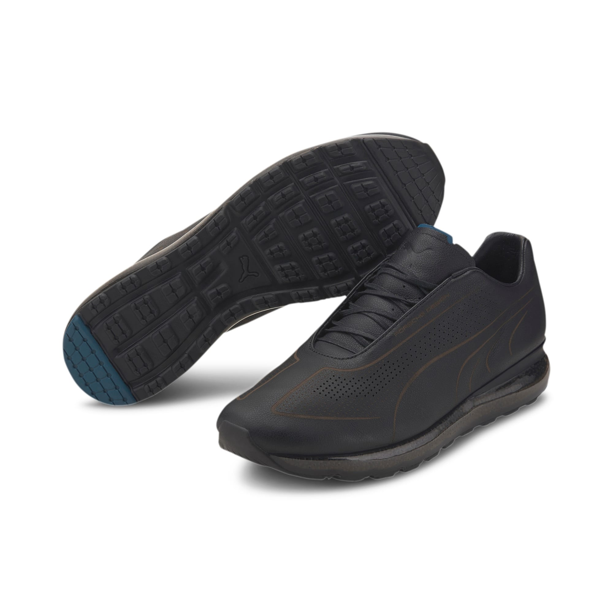 Thumbnail 3 of Porsche Design Speed Jamming Men's Trainers, Jet Black-Blue Turquoise, medium