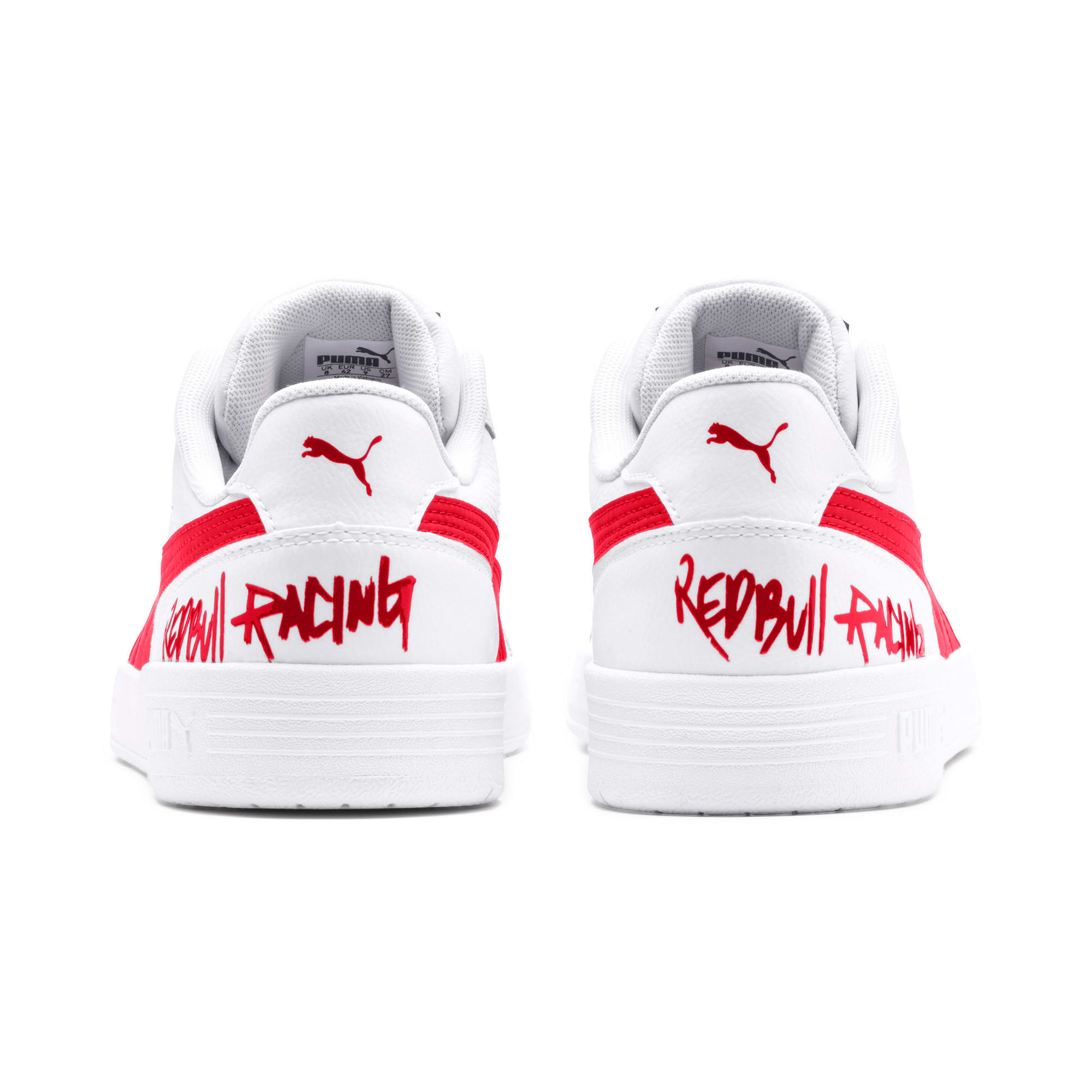Thumbnail 4 of Red Bull Racing Caracal Trainers, Puma White-Chinese Red-White, medium