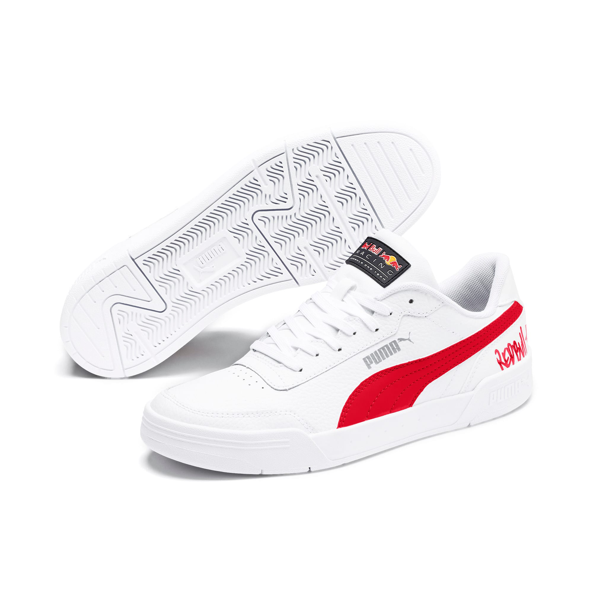 Thumbnail 3 of Red Bull Racing Caracal Trainers, Puma White-Chinese Red-White, medium