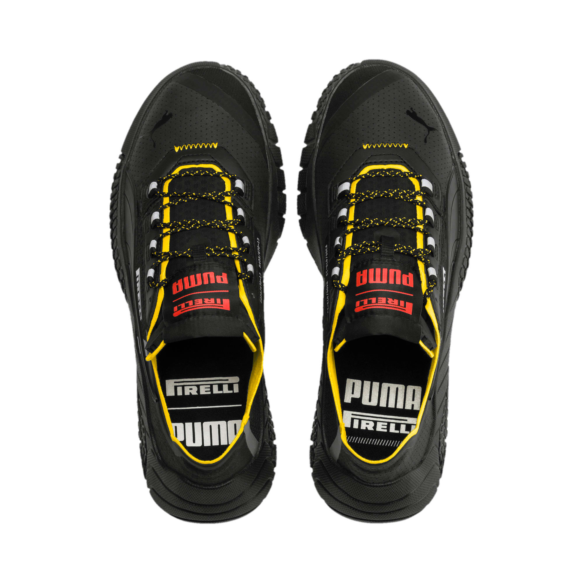 Zapatos Replicat-X Pirelli Motorsport, Black-Black-Cyber Yellow, grande