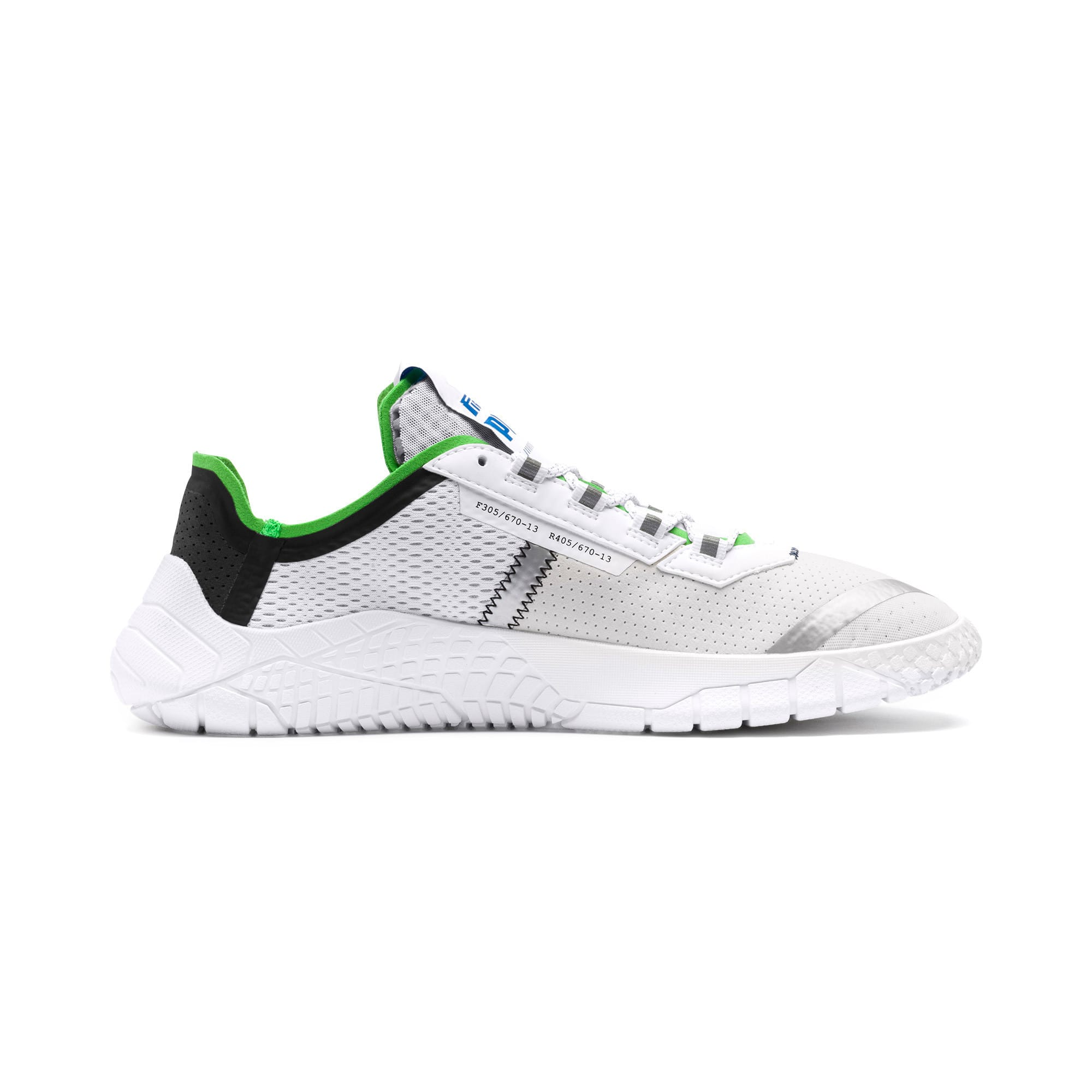 Thumbnail 6 of Pirelli Replicat-X Trainers, White-Black-Classic Green, medium