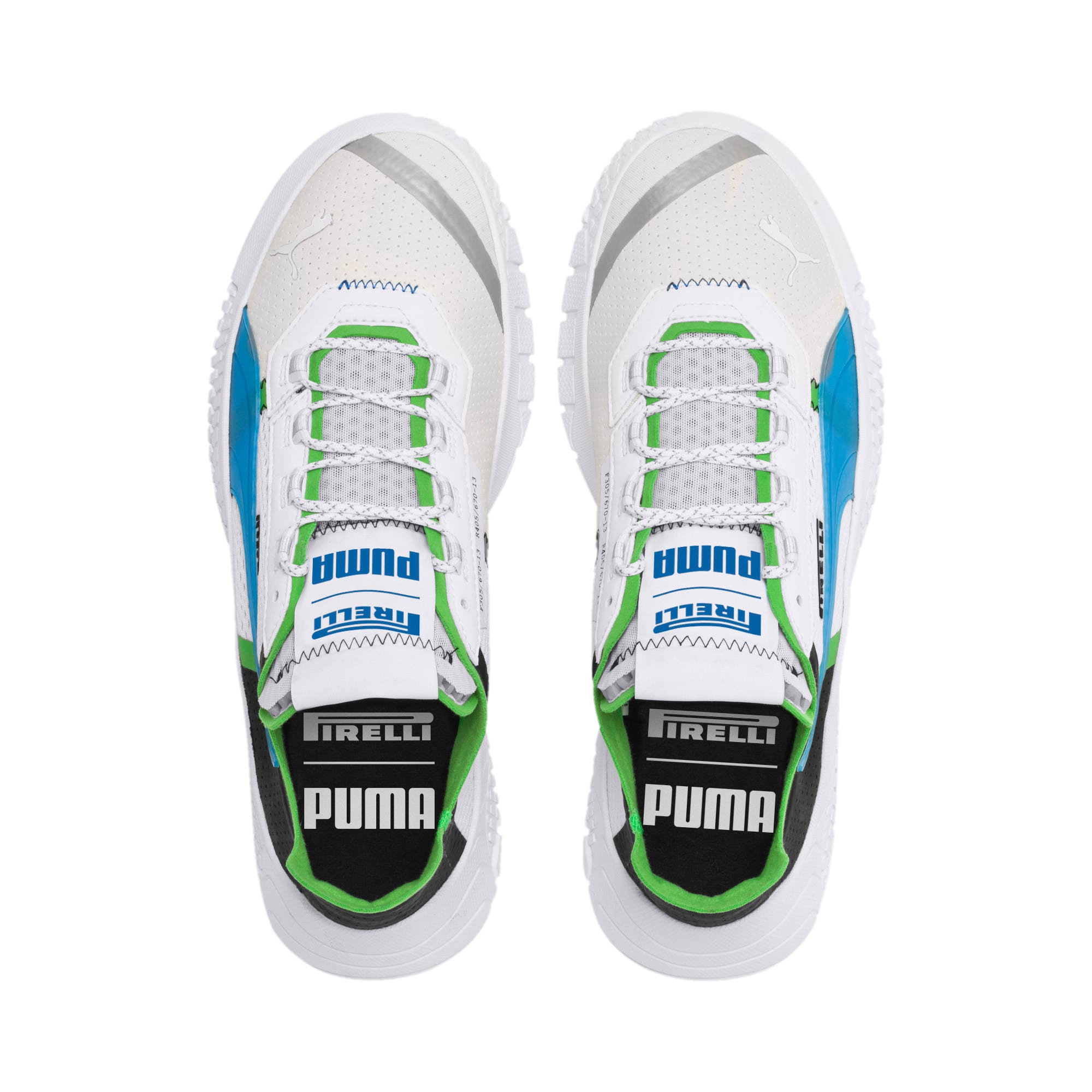 Thumbnail 7 of Pirelli Replicat-X Trainers, White-Black-Classic Green, medium