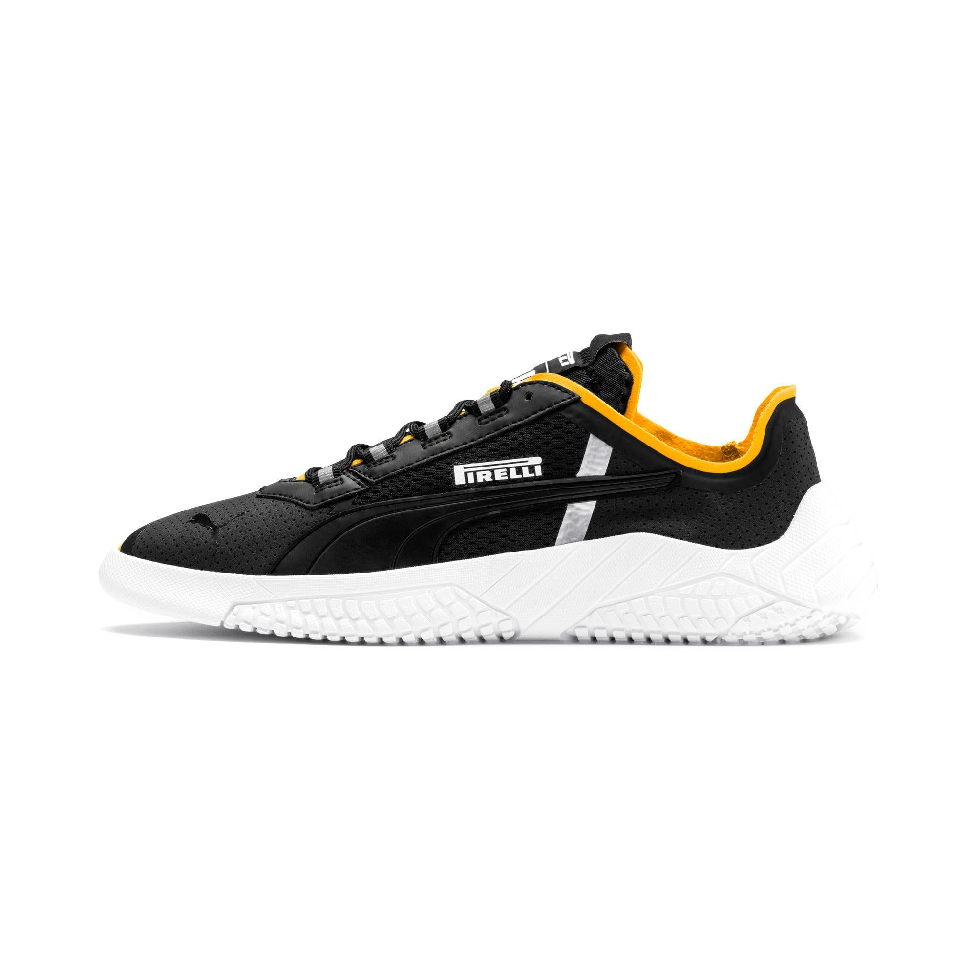 Thumbnail 1 of Replicat-X Pirelli Motorsport Shoes, Puma Black-Puma White-Zinnia, medium