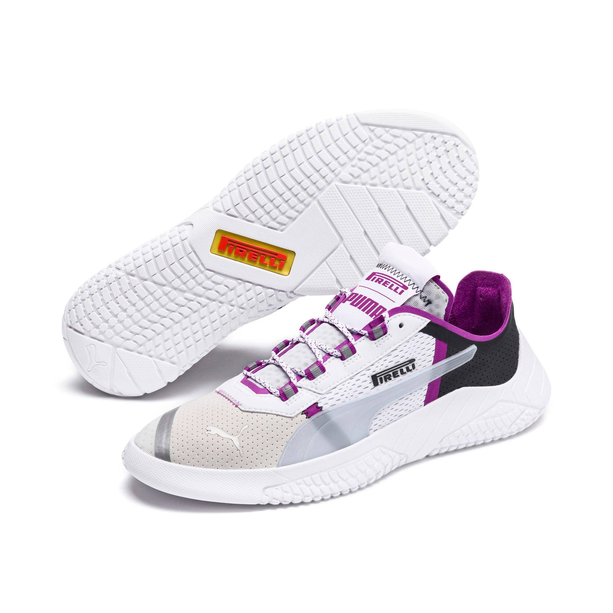 Thumbnail 3 of Pirelli Replicat-X Trainers, White-Hyacinth Viol-Red, medium