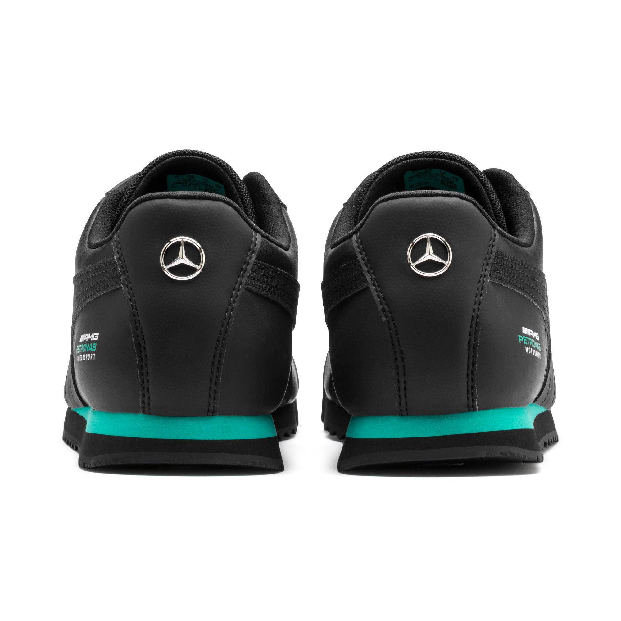 Thumbnail 4 of Mercedes AMG Petronas Roma Men's Sneakers, Puma Black-Puma Black, medium
