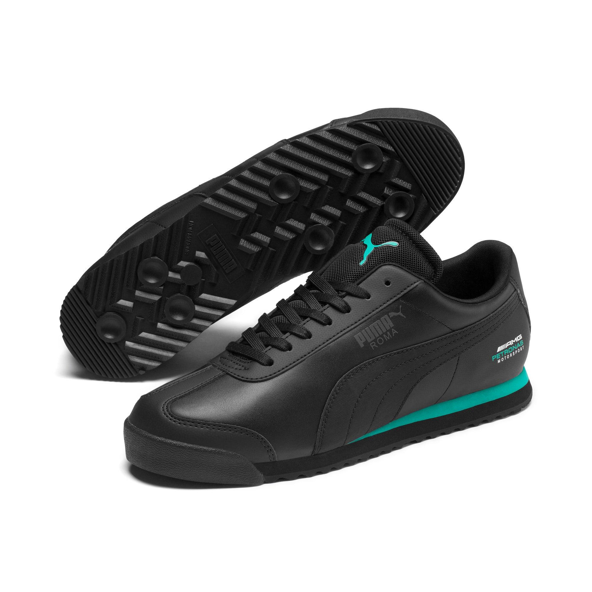 Thumbnail 3 of Mercedes AMG Petronas Roma Men's Sneakers, Puma Black-Puma Black, medium