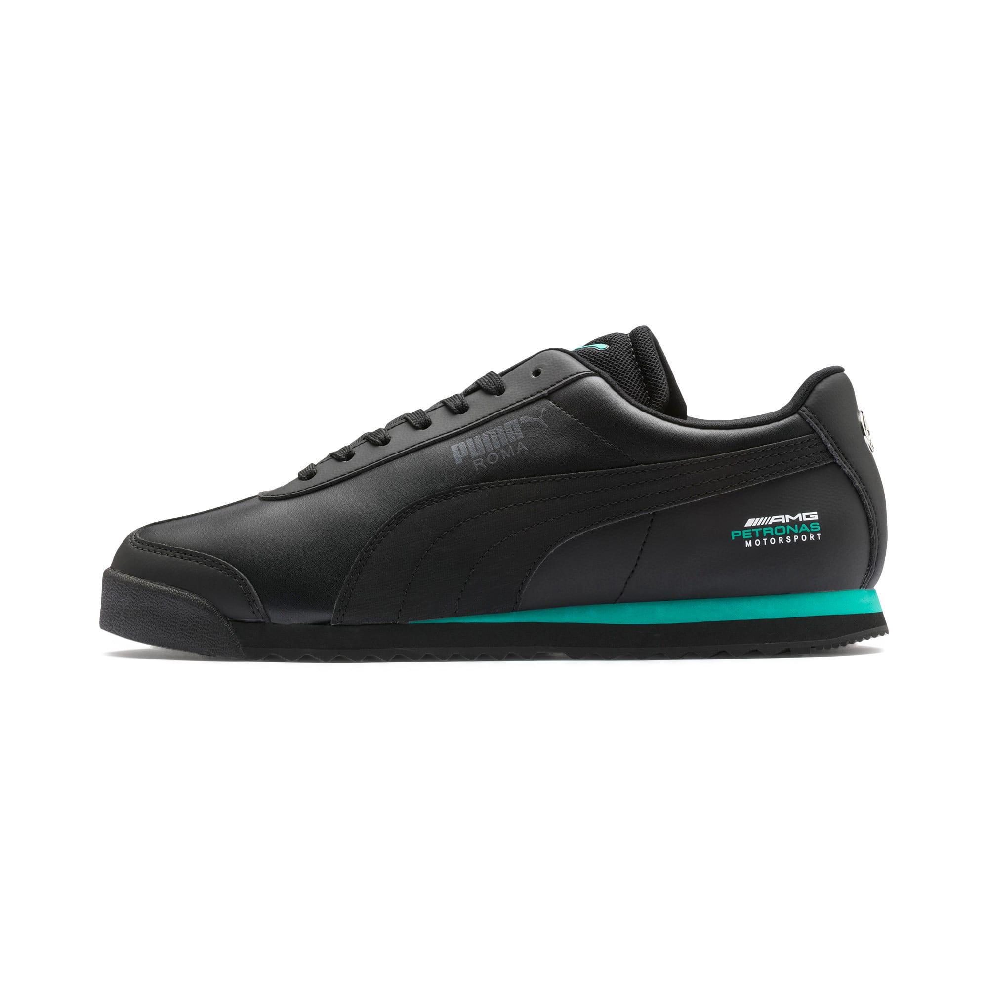 Thumbnail 1 of Mercedes AMG Petronas Roma Men's Sneakers, Puma Black-Puma Black, medium