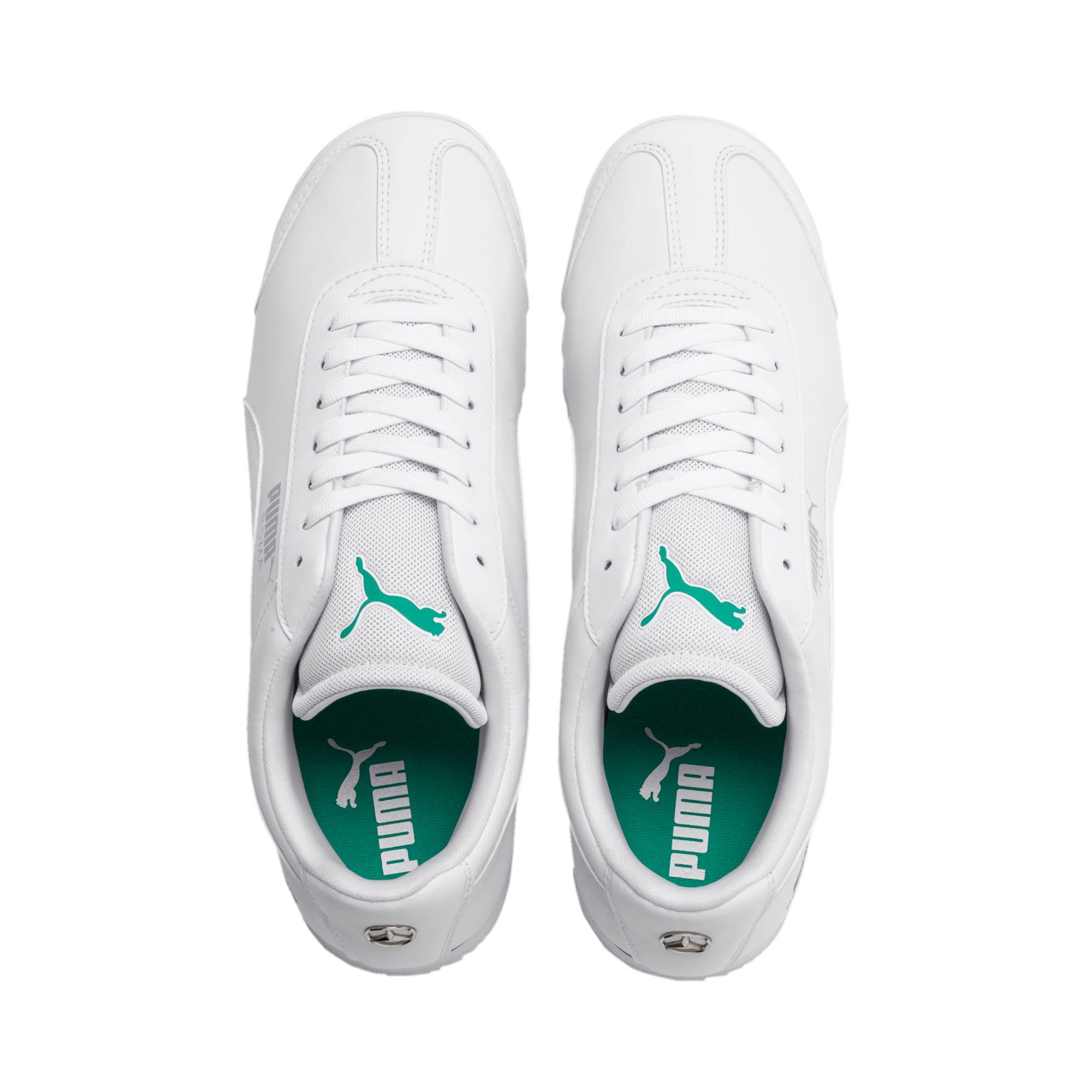 Thumbnail 7 of Mercedes AMG Petronas Roma Men's Sneakers, Puma White-Puma White, medium