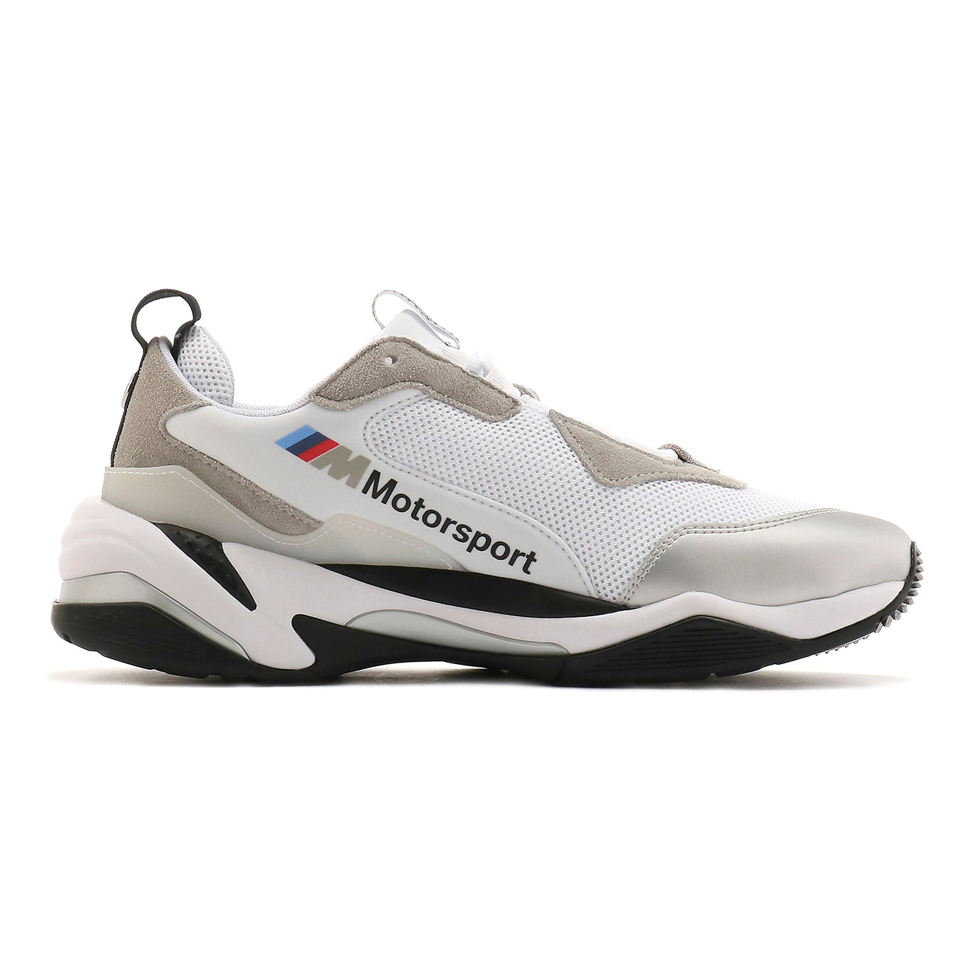BMW MMS Thunder Sneakers, Puma White-Puma Silver, large