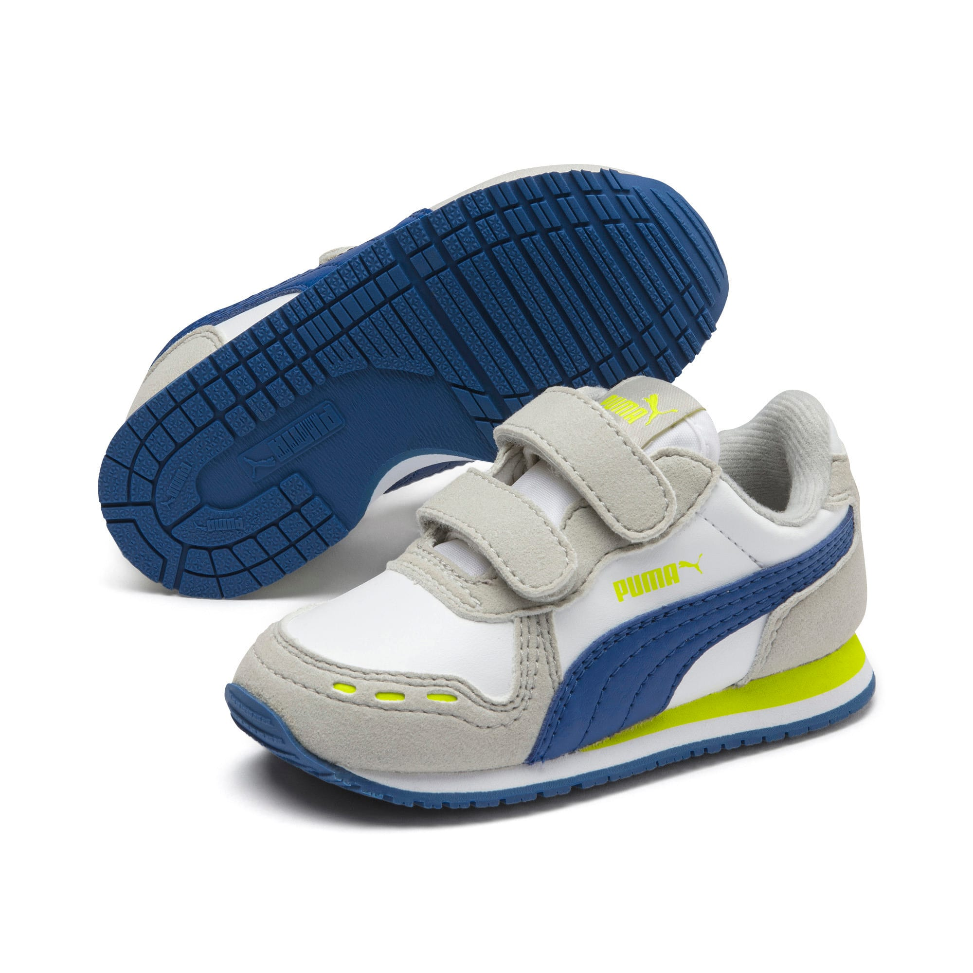 Thumbnail 2 of Cabana Racer SL Toddler Shoes, Puma White-Galaxy Blue, medium